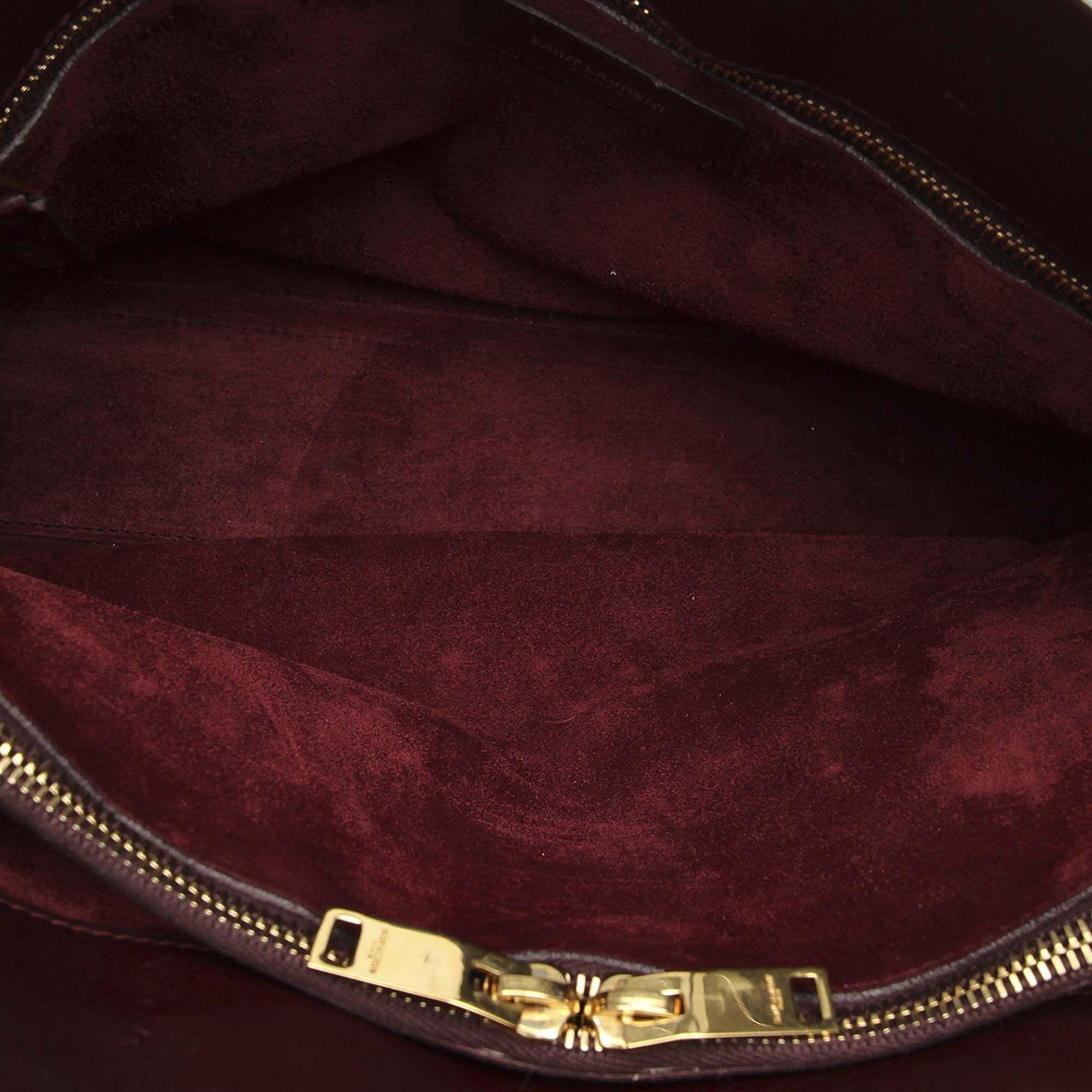 Vintage YSL Mini Sac De Jour Leather Satchel Red