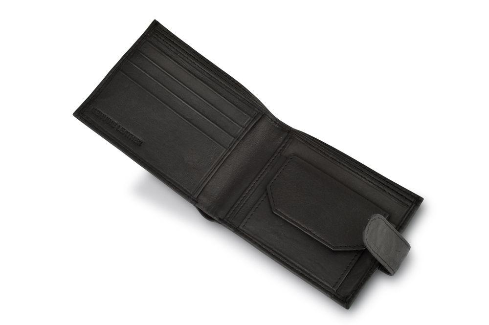 """Woodland Leather Black 4.5"""" RFID Multi Pocket Wallet"""