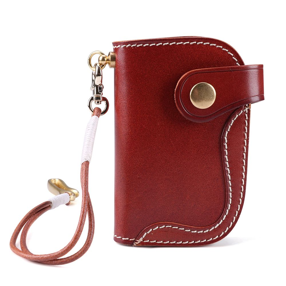 Women's Leather Keychain and Card Holder Wallet