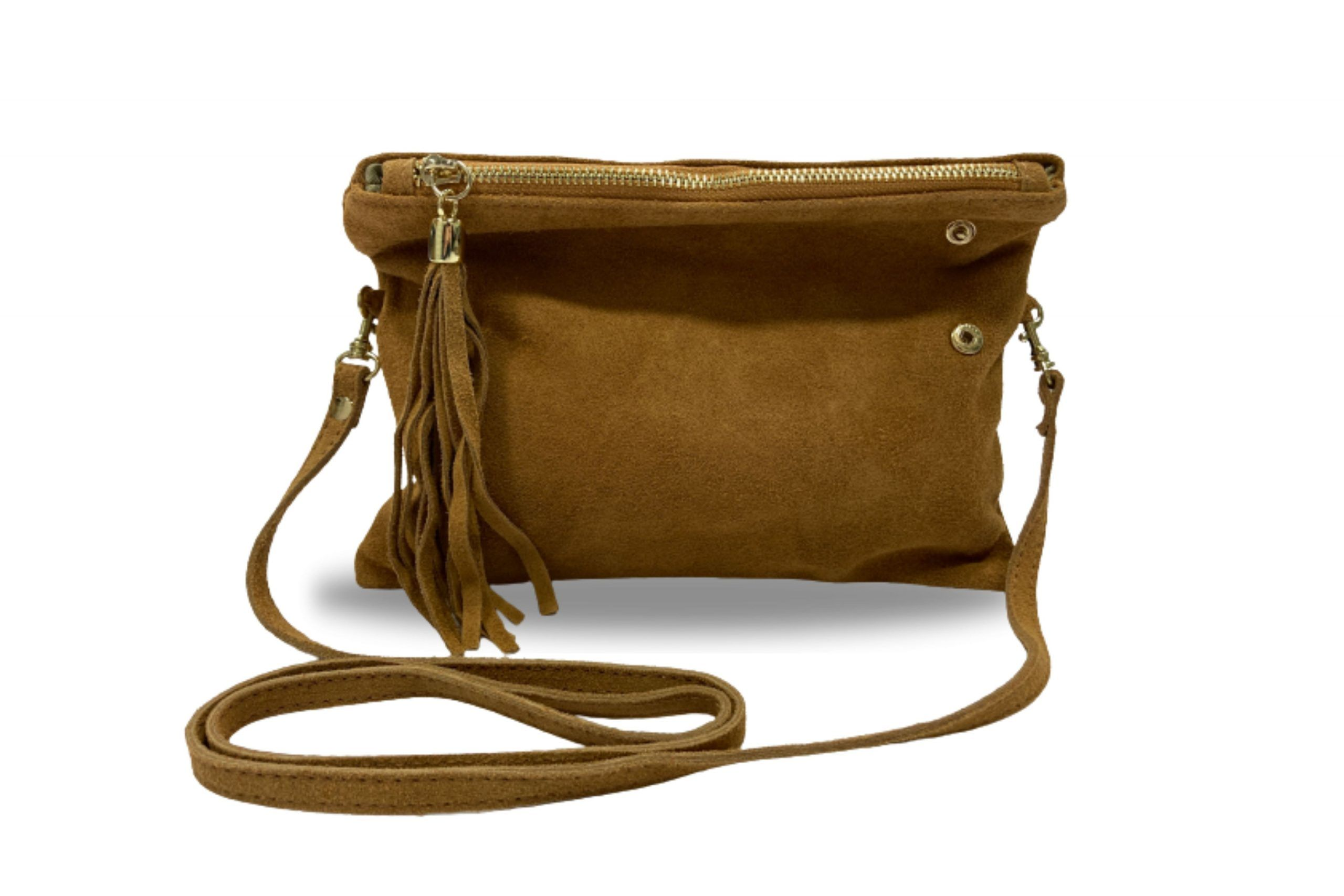 Woodland Leather Fold Over Petite Clutch Style Bag