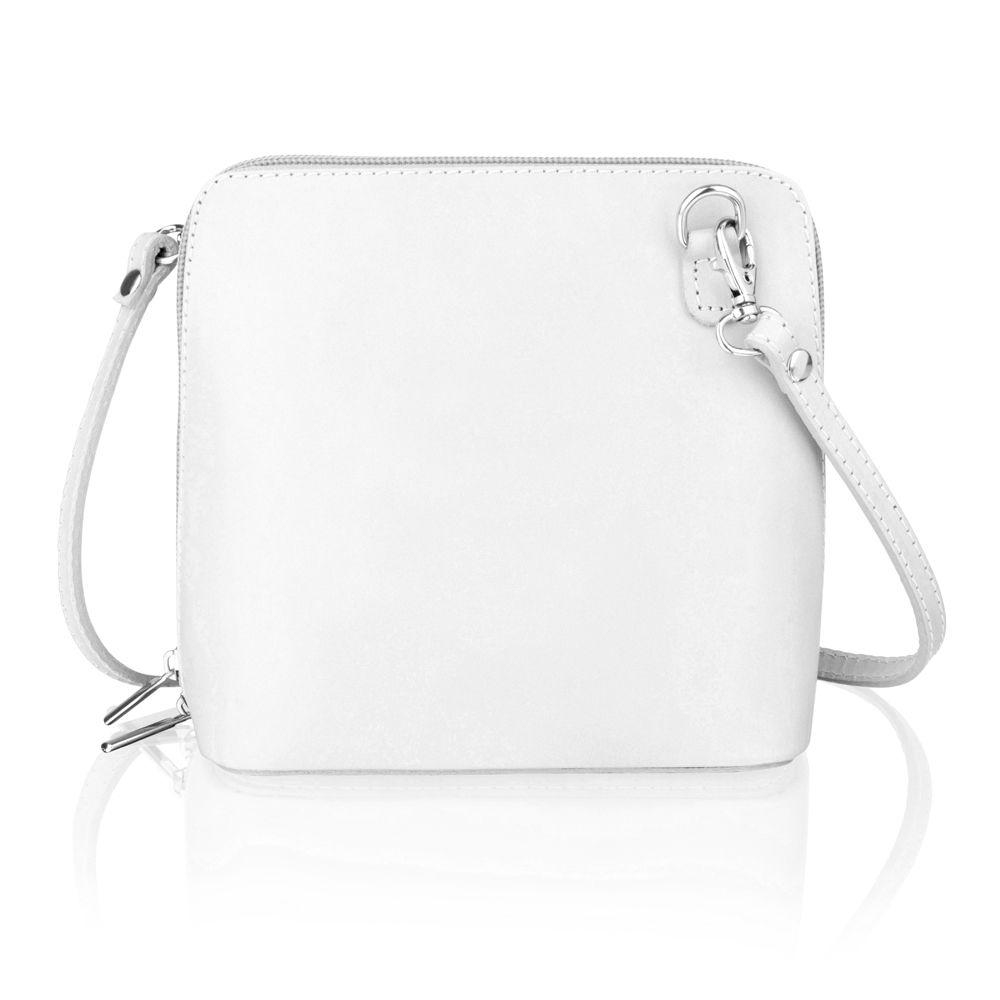 """Woodland Leather Taupe 6.0"""" Small Shoulder Bag, Open Central Zip, Removeable Adjustable Shoulder Strap"""