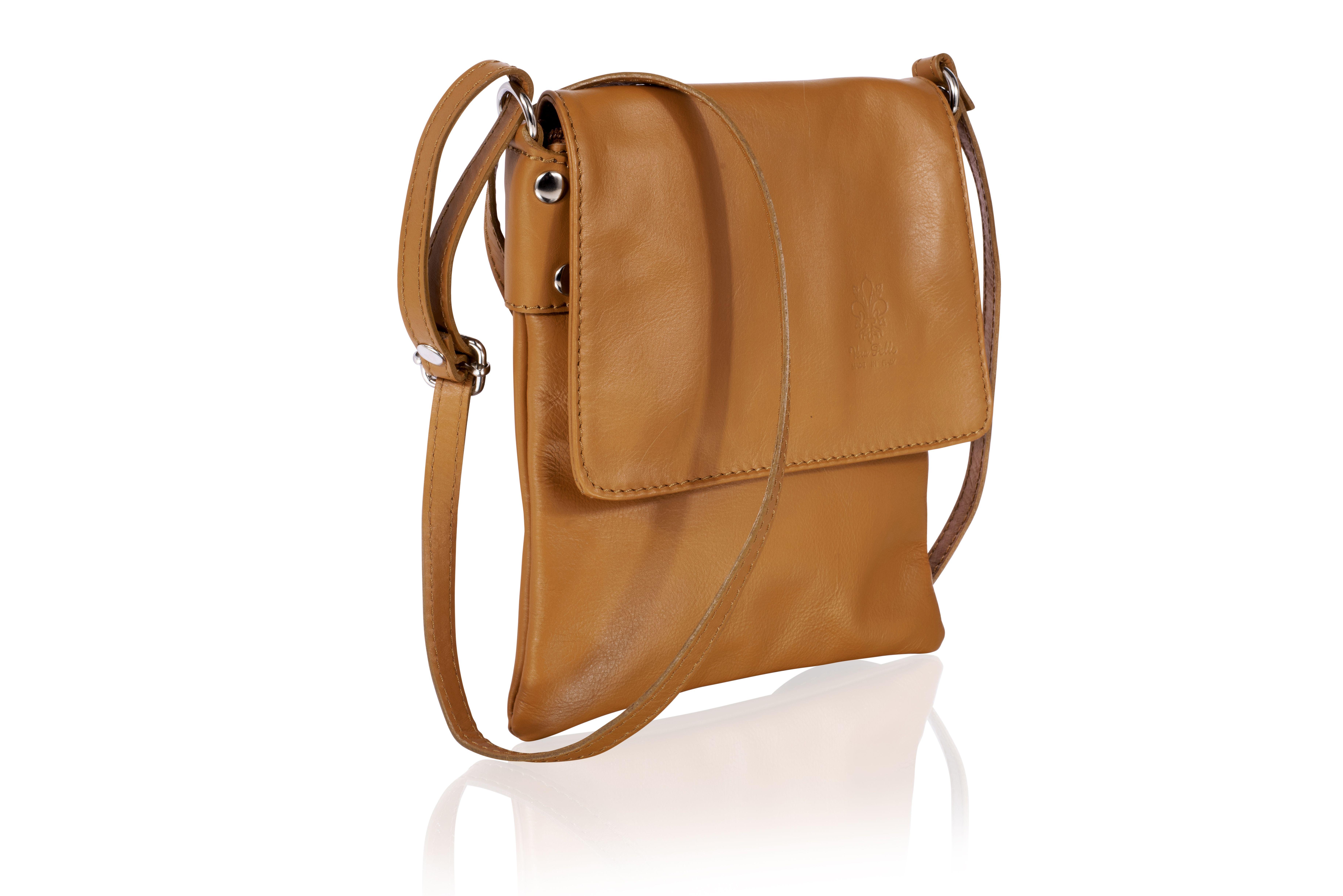 Woodland Leather Tan Genuine Italian Leather Ladies Bag