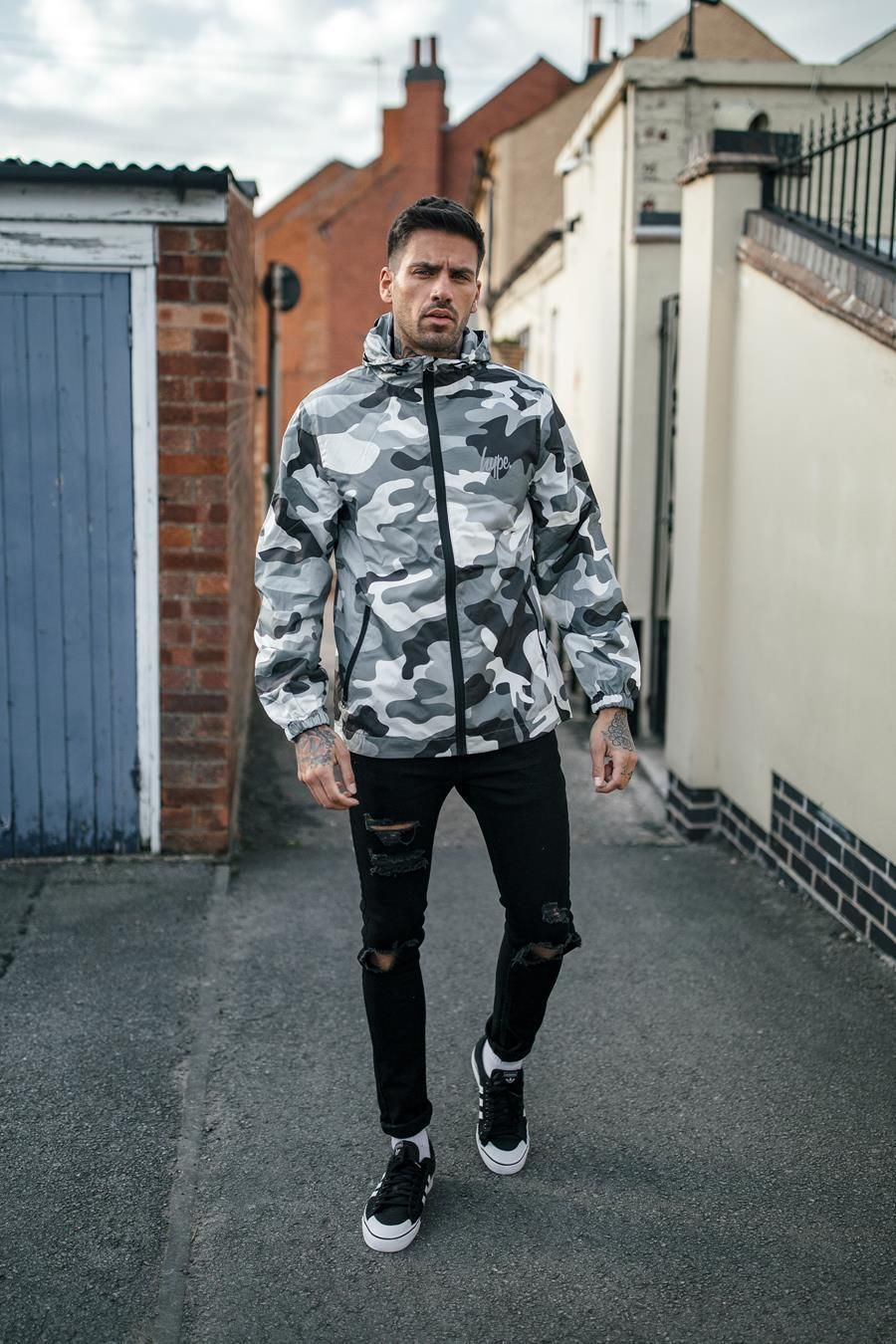 Hype Black Mono Mens Runner Jacket