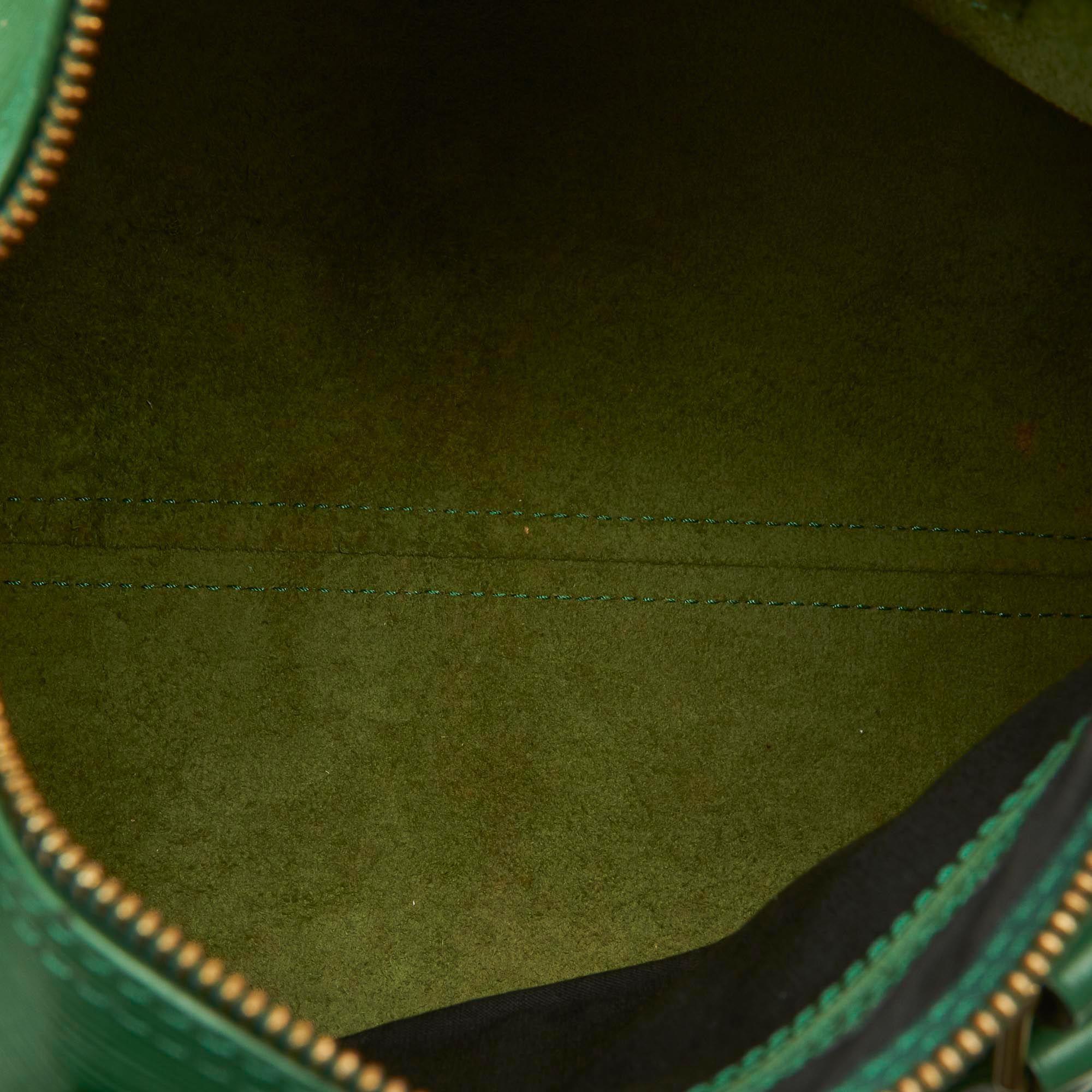 Vintage Louis Vuitton Epi Speedy 25 Green