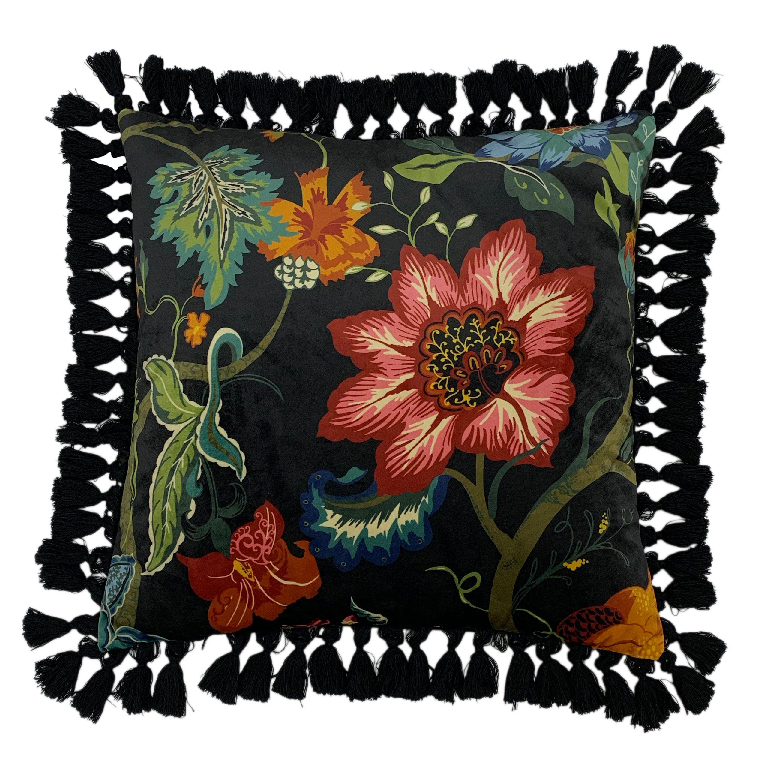 Botanist 50X50 Poly Cushion Black