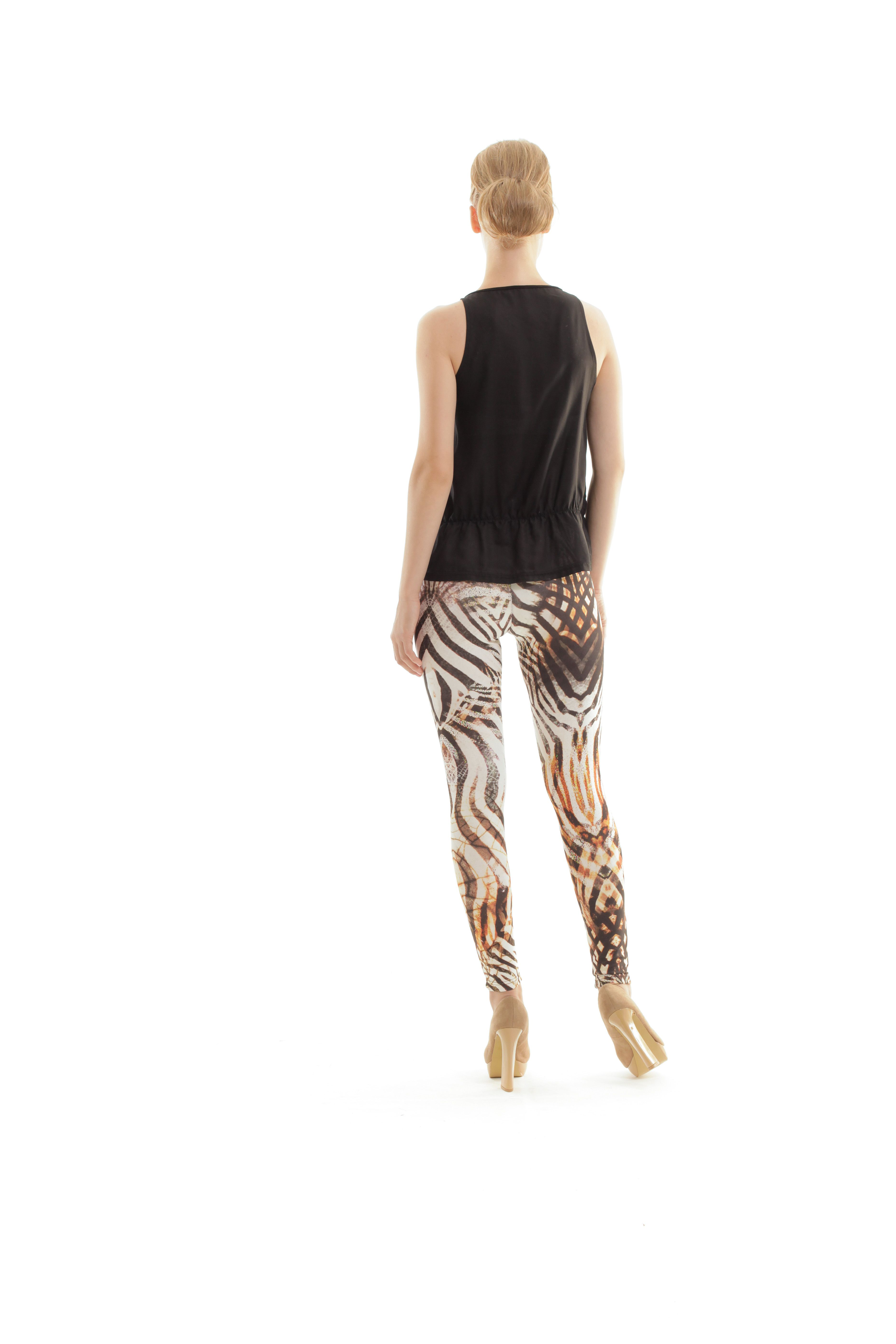 Animal Print Silky Pants