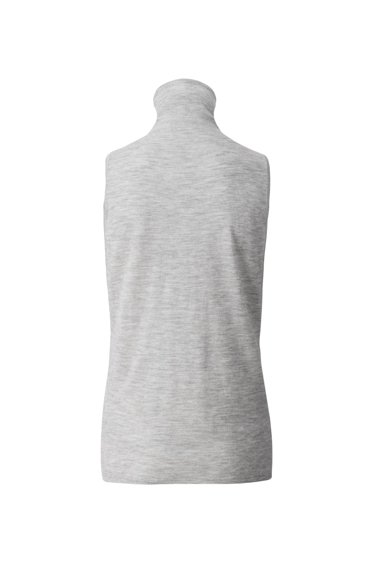The Palermo grey pure cashmere rollneck sleeveless sweater