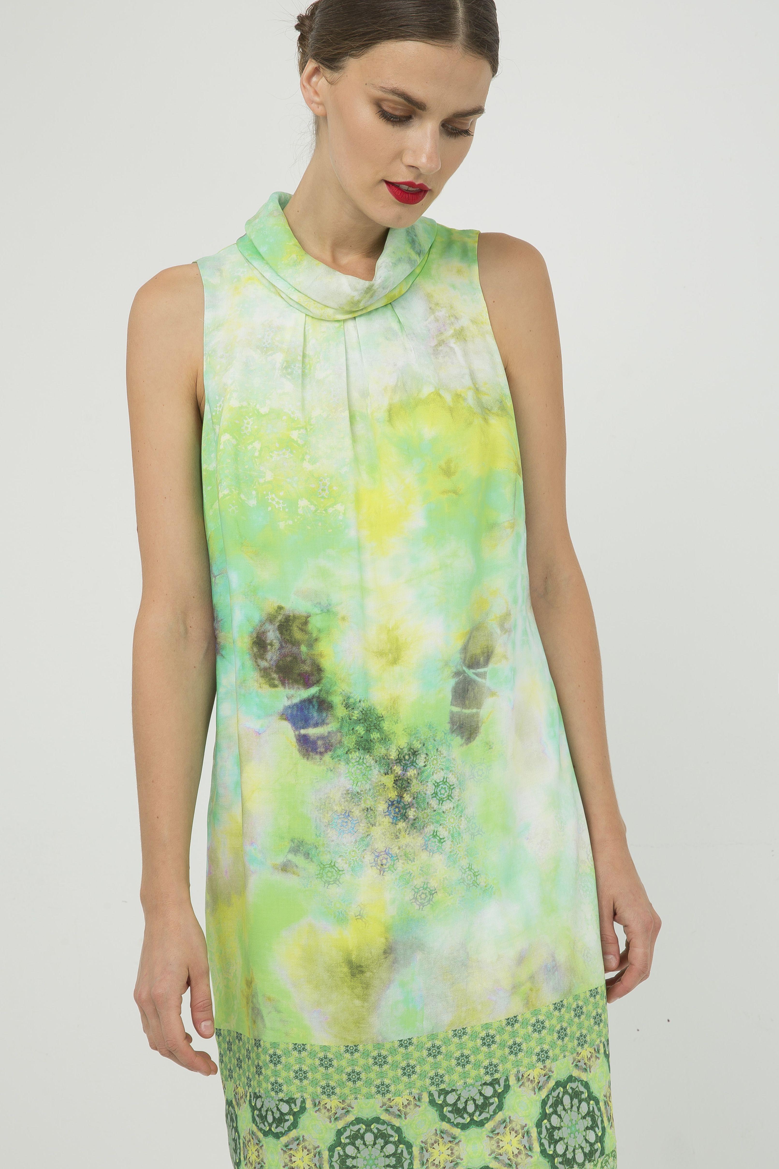 Straight Sleeveless Print Dress