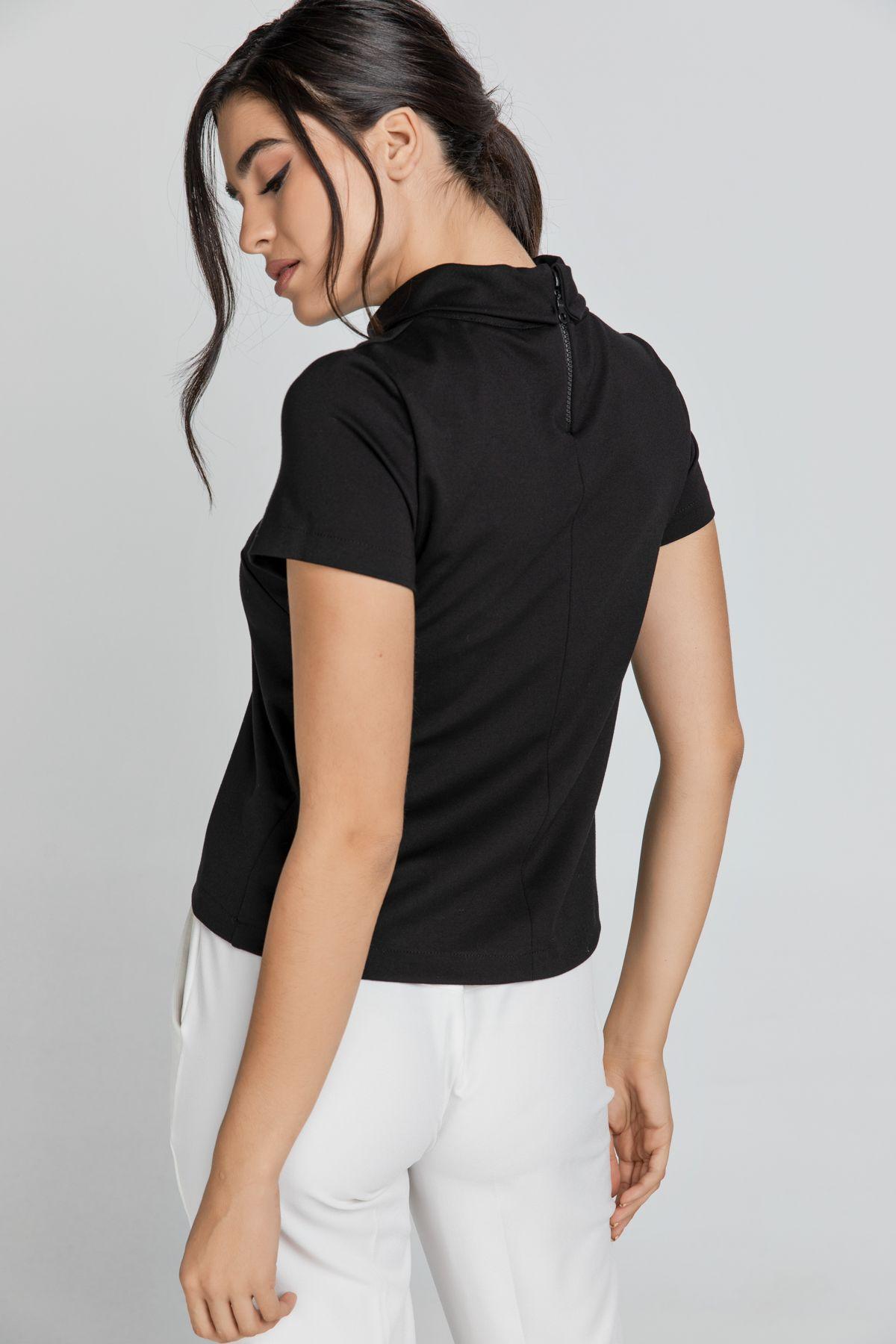 Short Sleeve Black Top