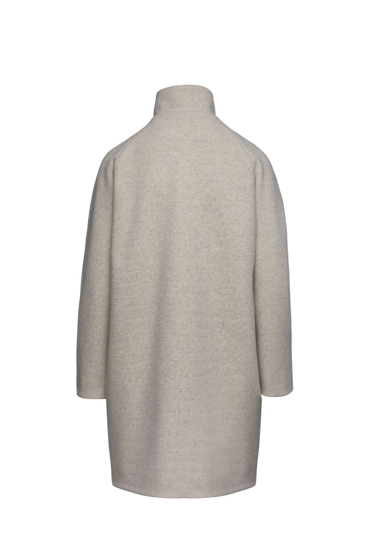 Mouflon Sand Colour Mélange Coat by Conquista Fashion
