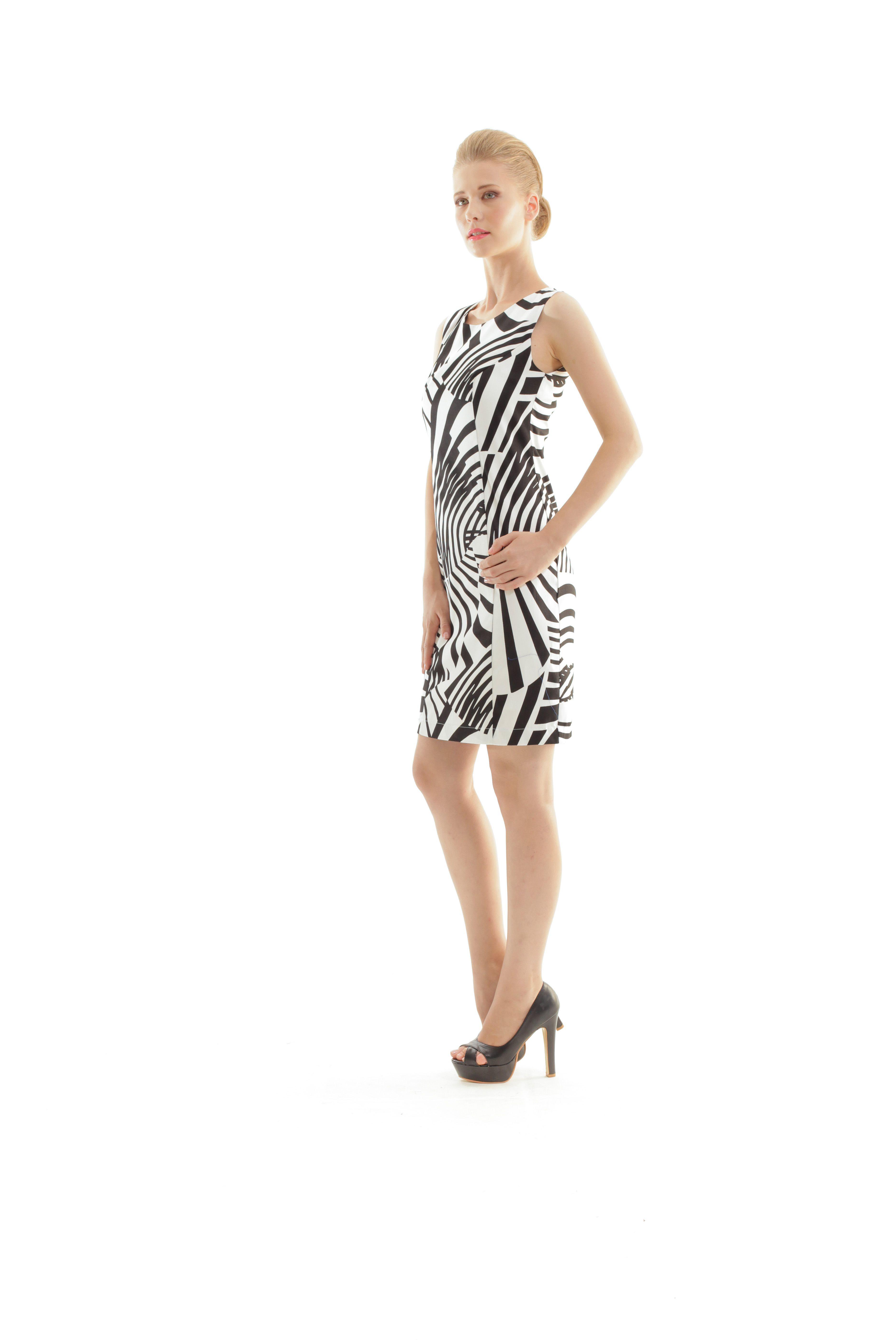 Zebra Print Shift Dress