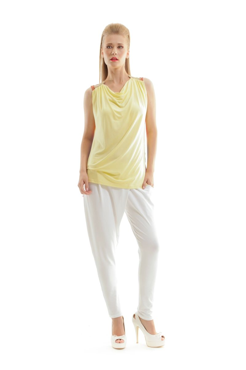 Sleeveless Top with Contrast Back