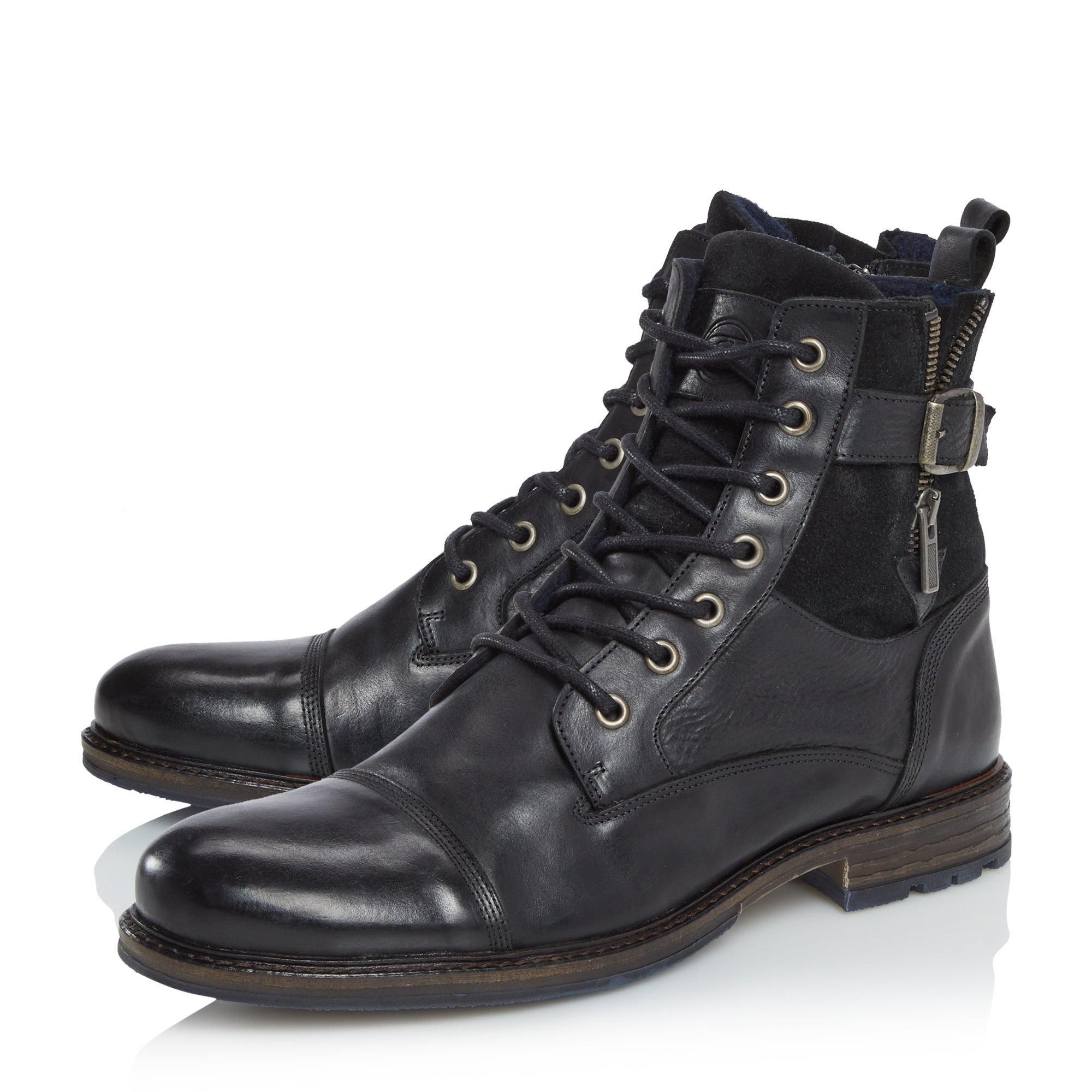 Dune Mens CALL Casual Buckle Detail Ankle Boots