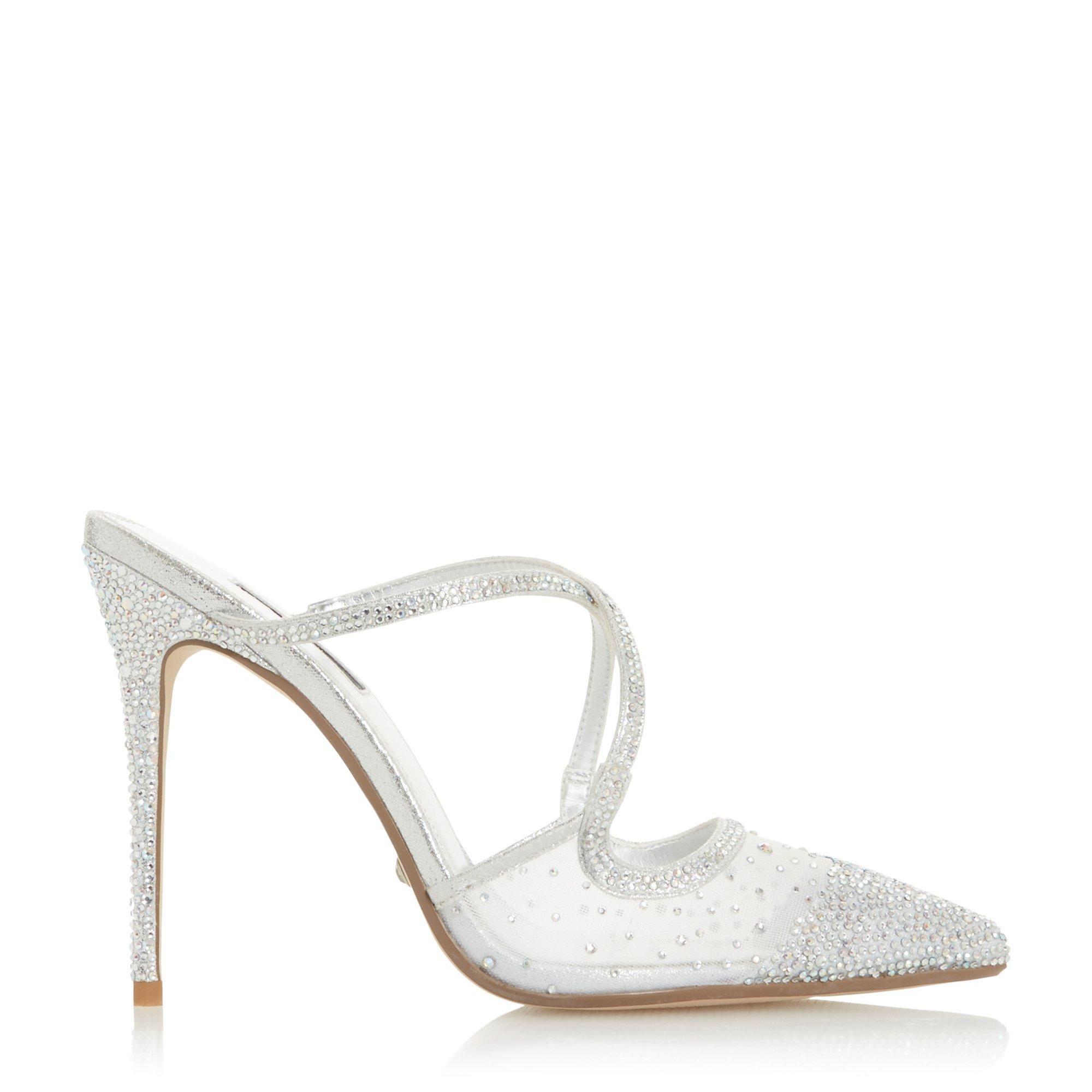 Dune Ladies CHARISMA Embellished High Heel Court Shoes