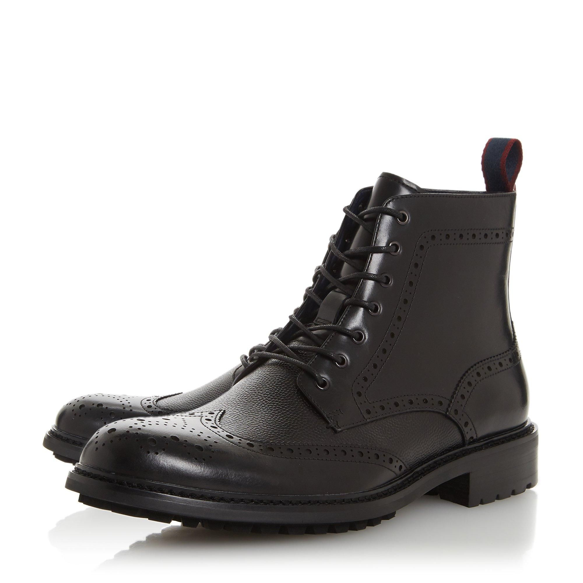Dune Mens CHRONICAL Lace Up Brogue Boots