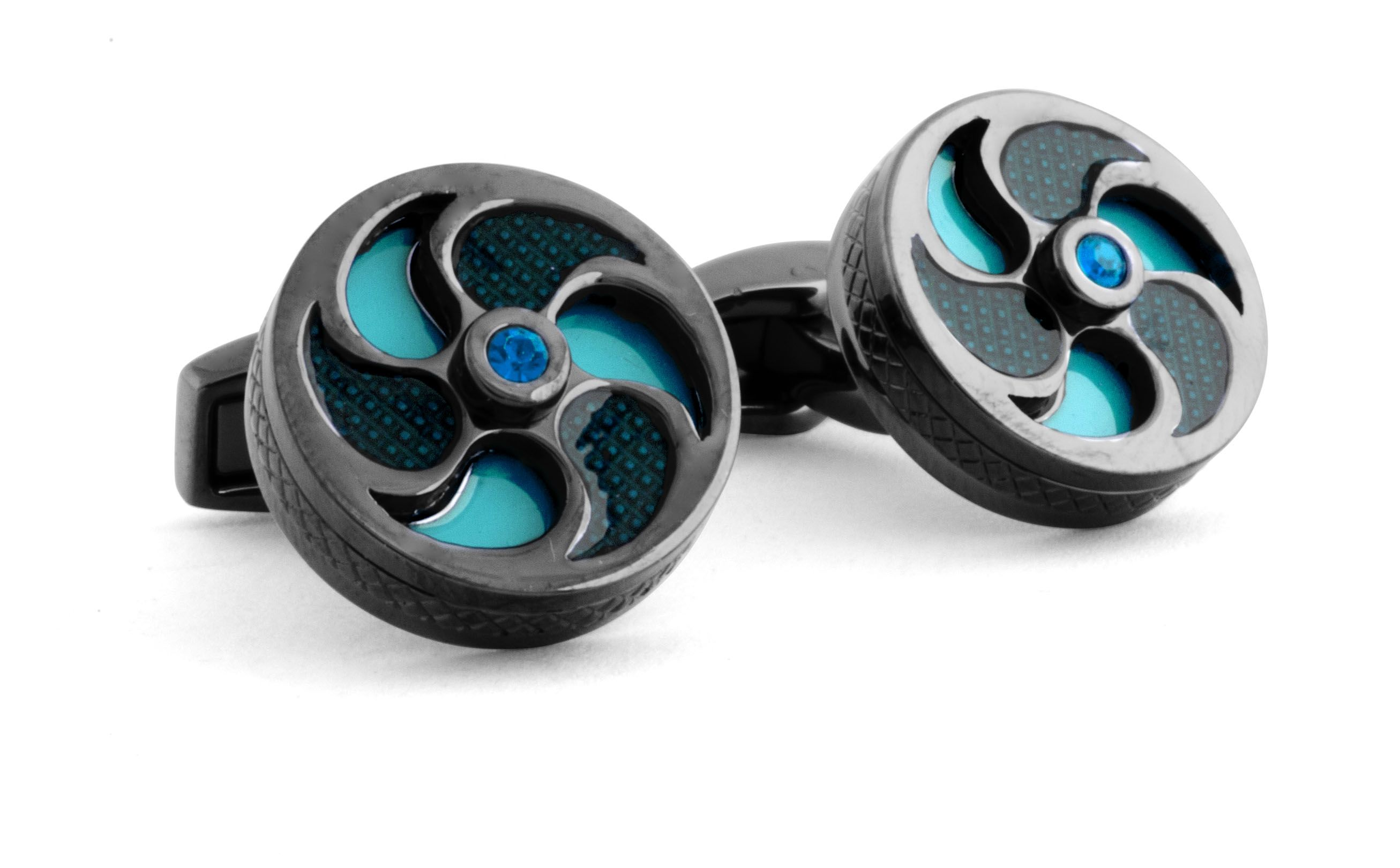 Windmill blue cufflinks