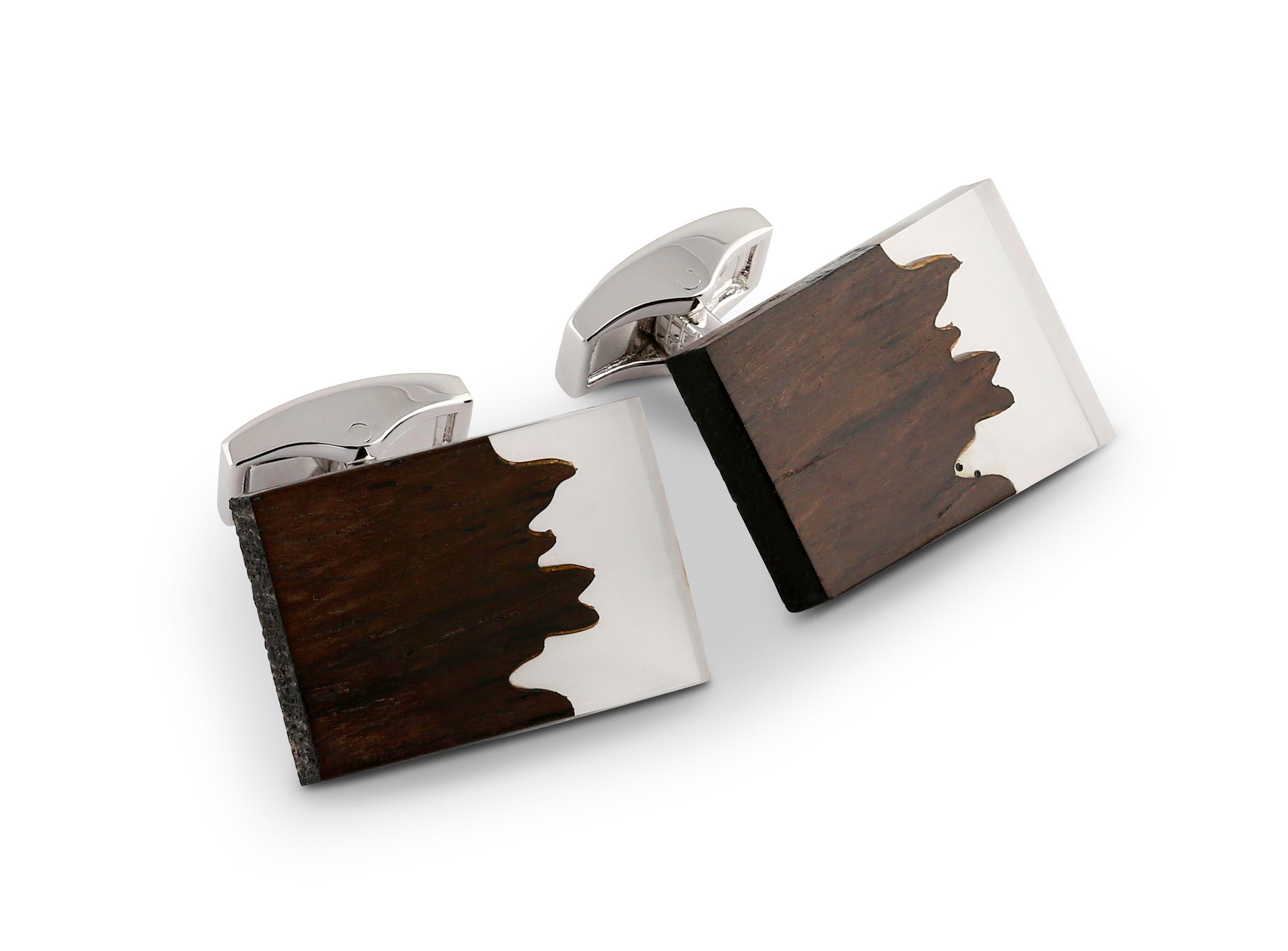 Ebony Wood Fusion cufflinks