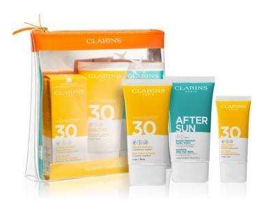 CLARINS SUMMER SET - DRY TOUCH SUN CARE CREAM SPF30 75ML & 30ML & AFTER SUN BALM 75ML