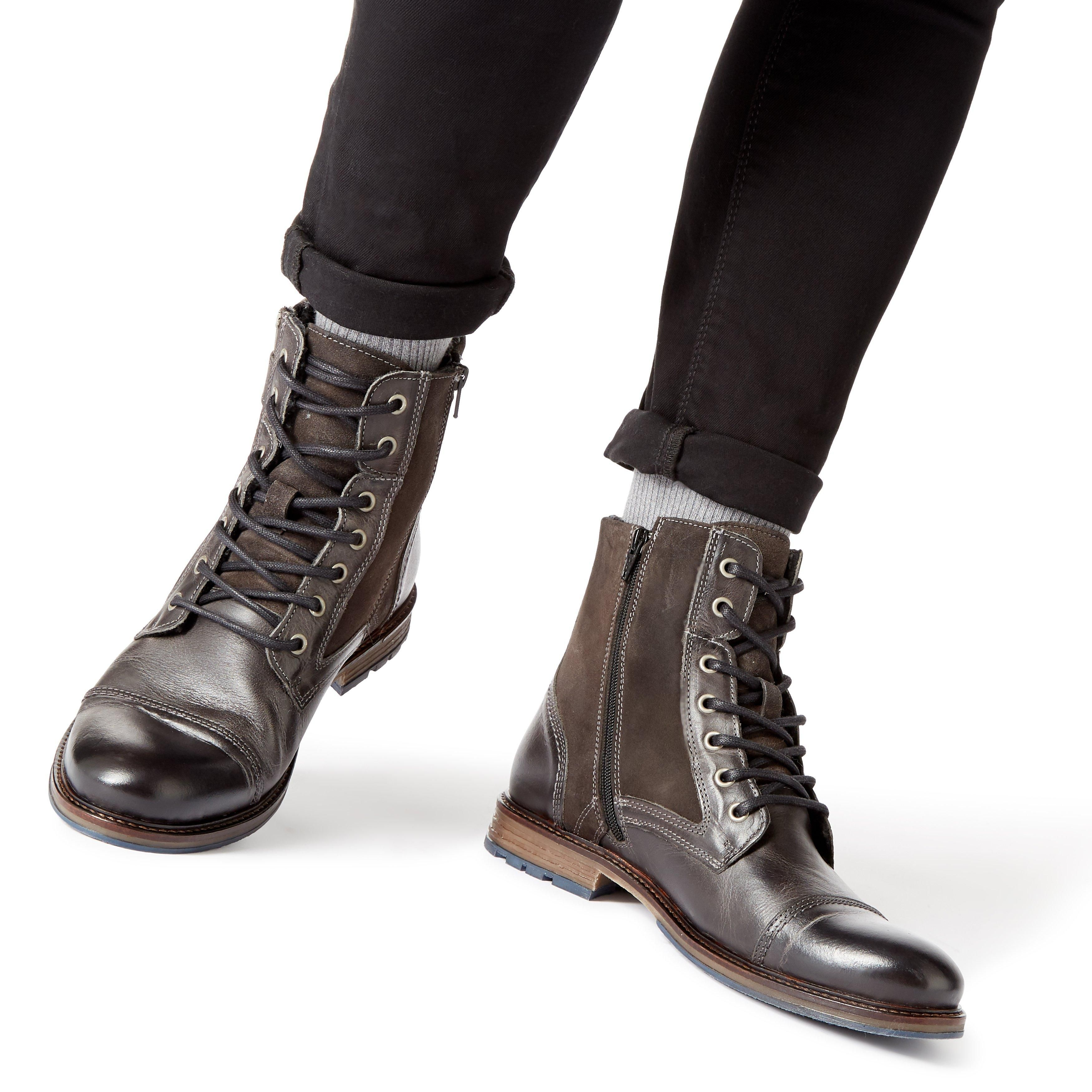 Dune Mens CLEAVELAND Borg Lined Buckle Boots