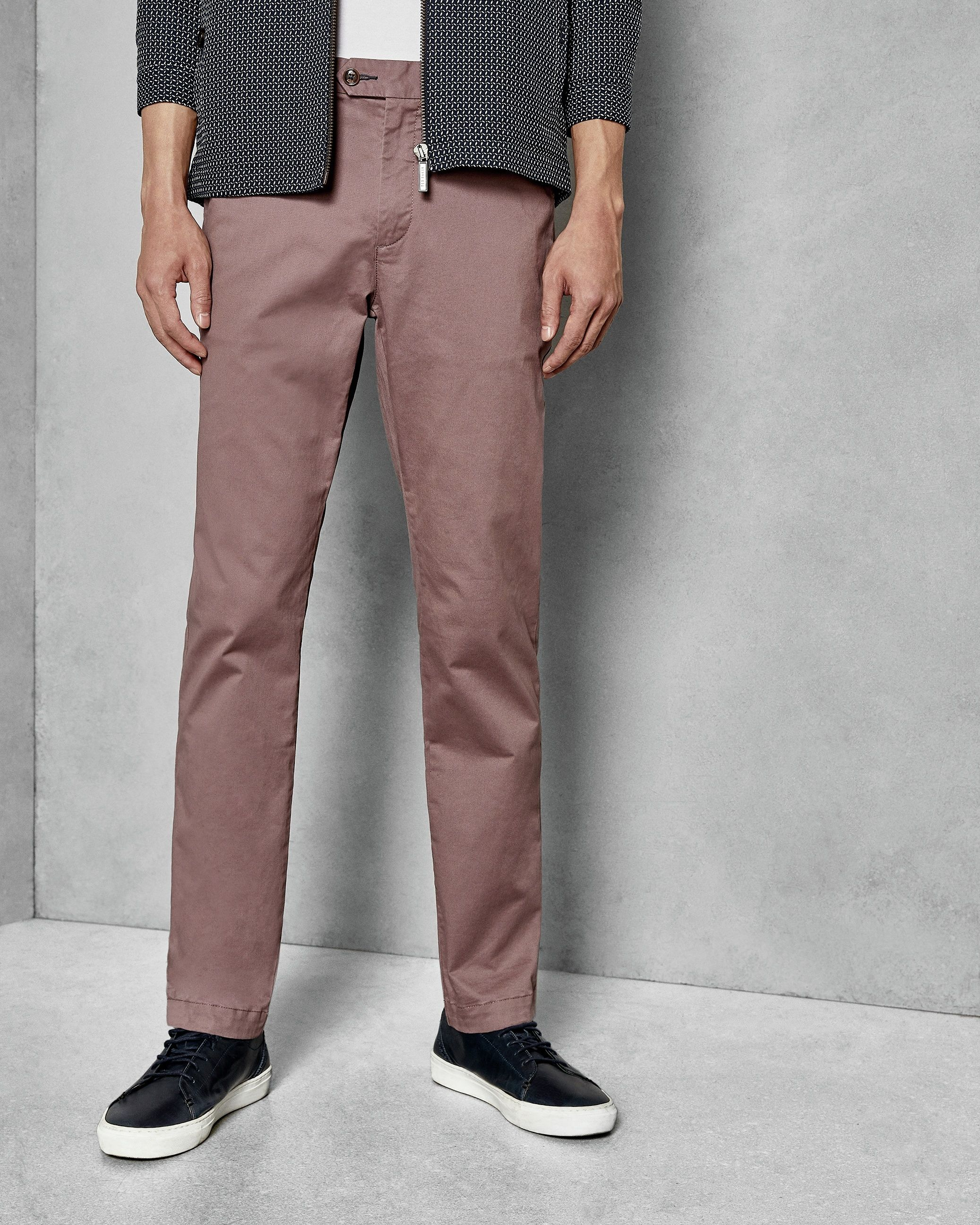 Ted Baker Clenchi Classic Fit Plain Chino, Deep Pink