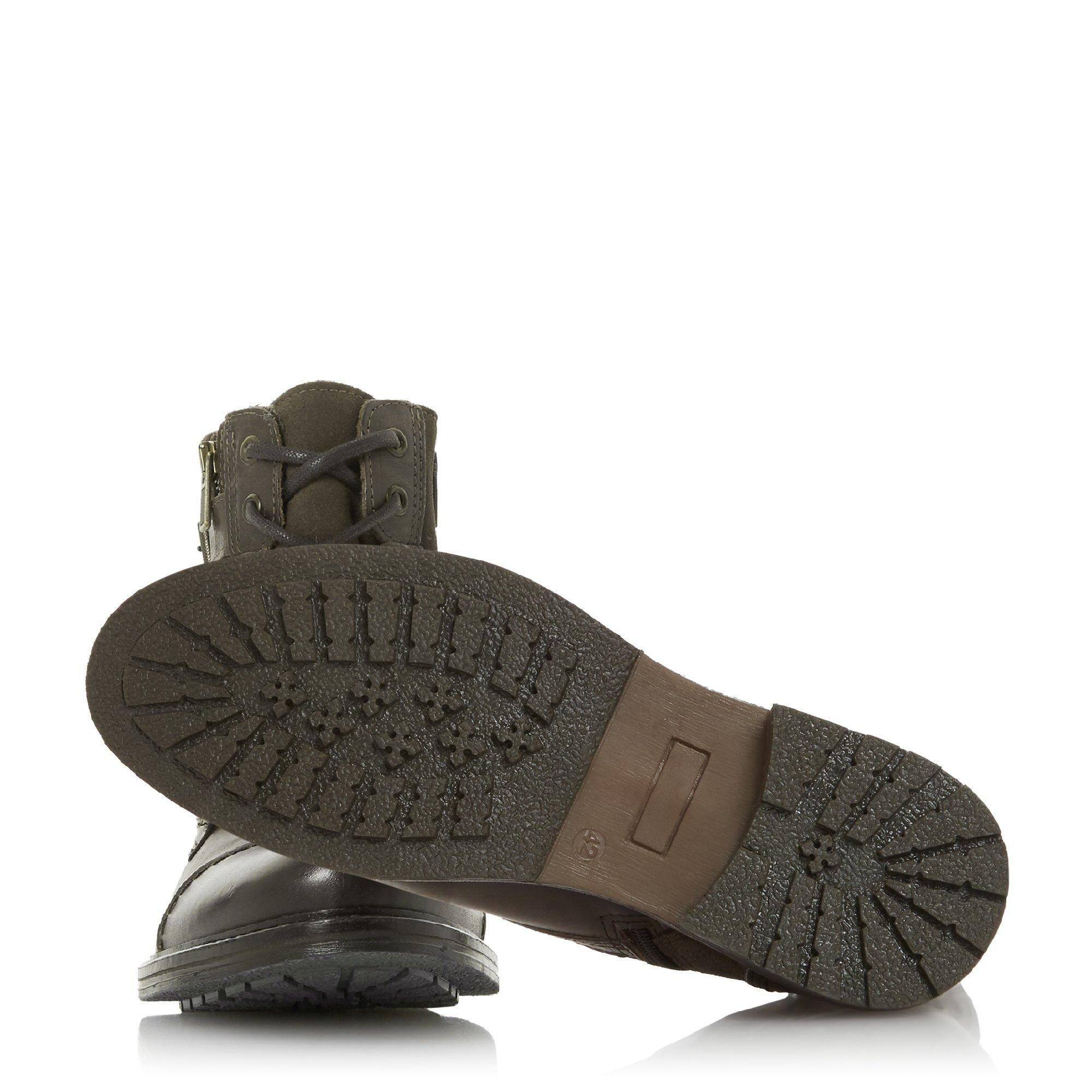 Dune Mens CLOVELAND Buckle Zip Detail Boots