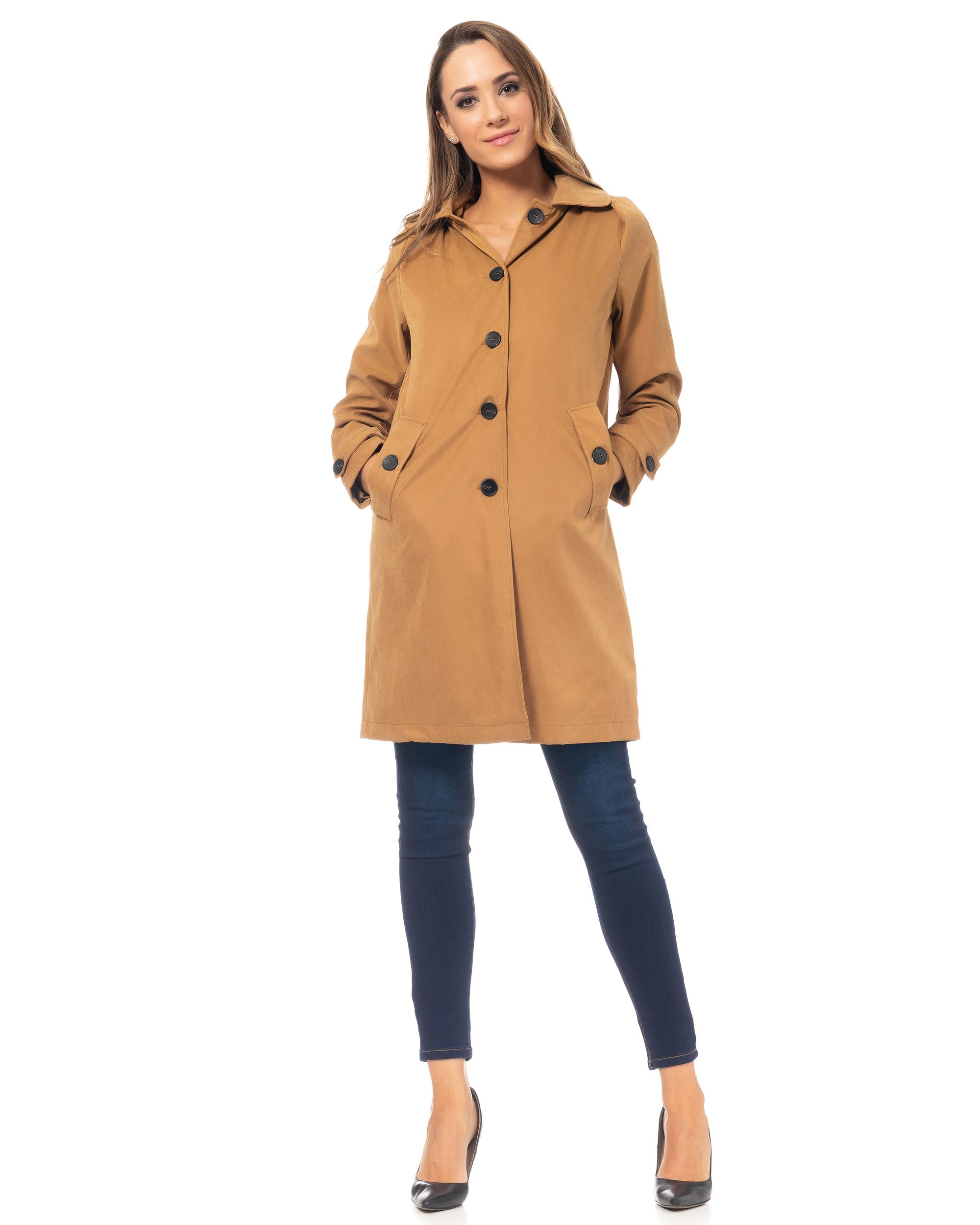 Raincoat With Hood And Pockets