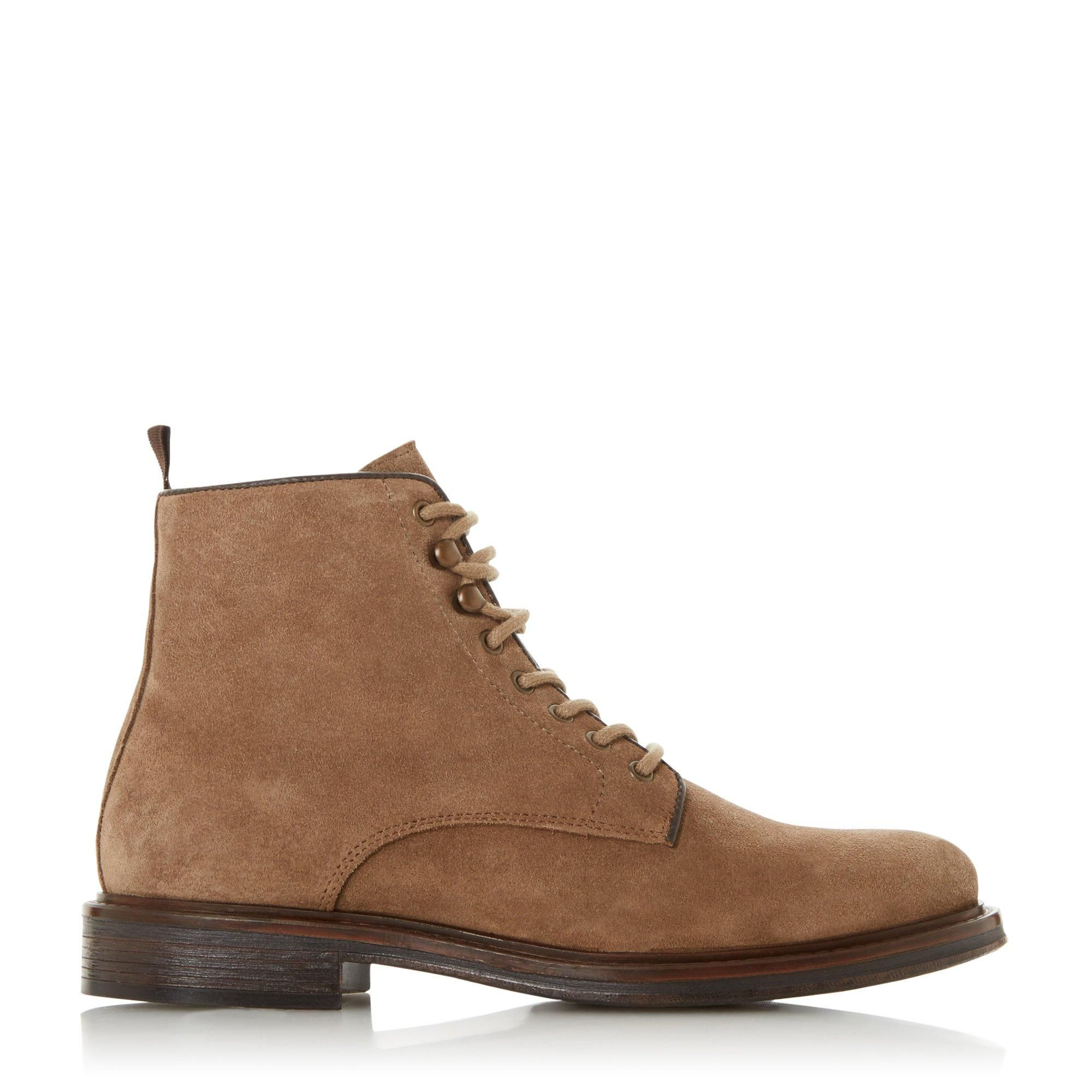 Dune Mens COCOA Lace Up Low Block Heel Boots