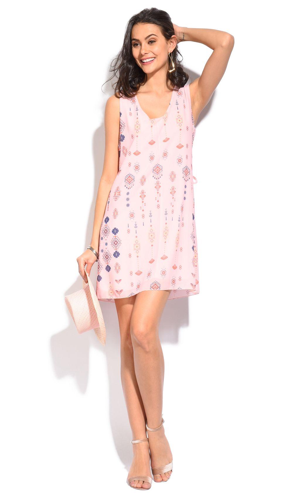 Floral printed pattern crepe Dress