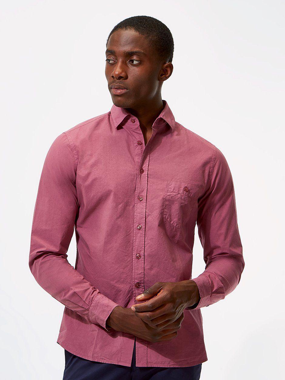 Plain Poplin Shirt Purple