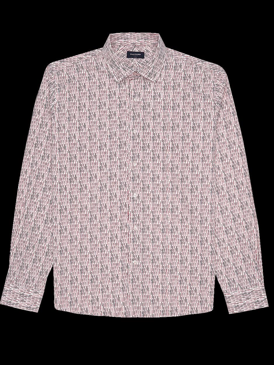 Dash Print Shirt Pink