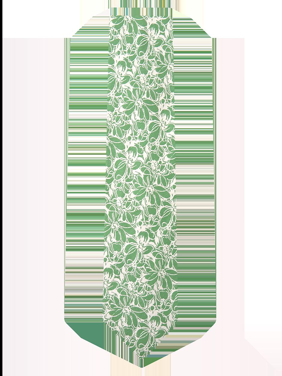 Sketch Floral Tie Green