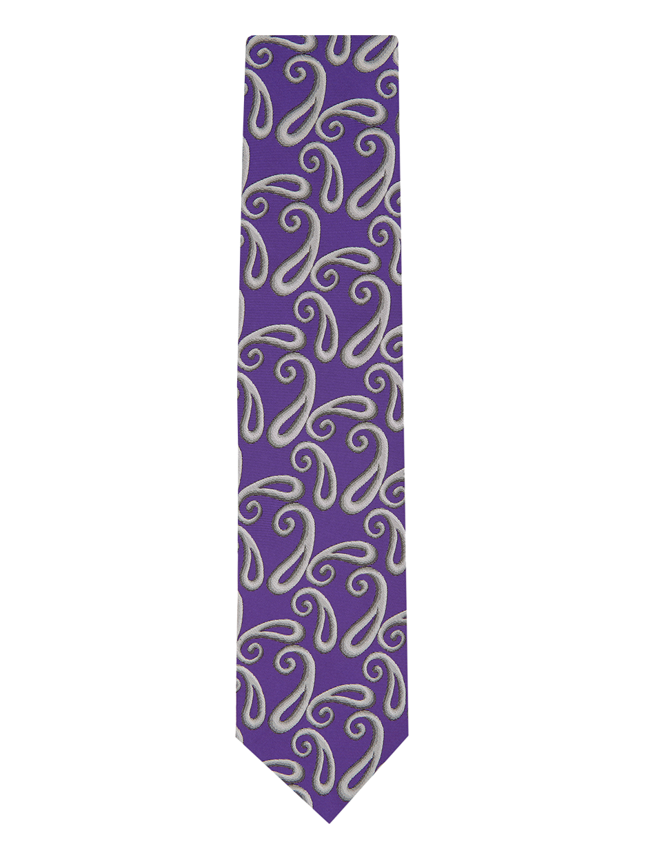Shaded Paisley Tie Purple