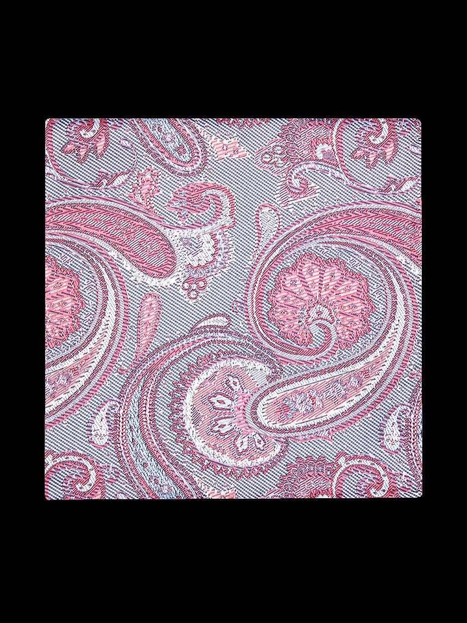 Elegant Paisley Pocket Square Pink