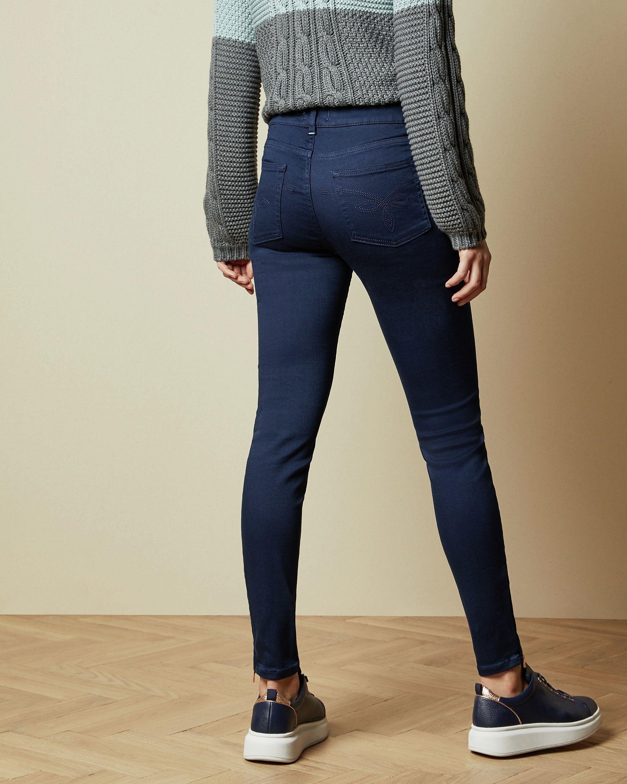Ted Baker Dariaas Super Skinny Rinse Wash Jeans in Navy
