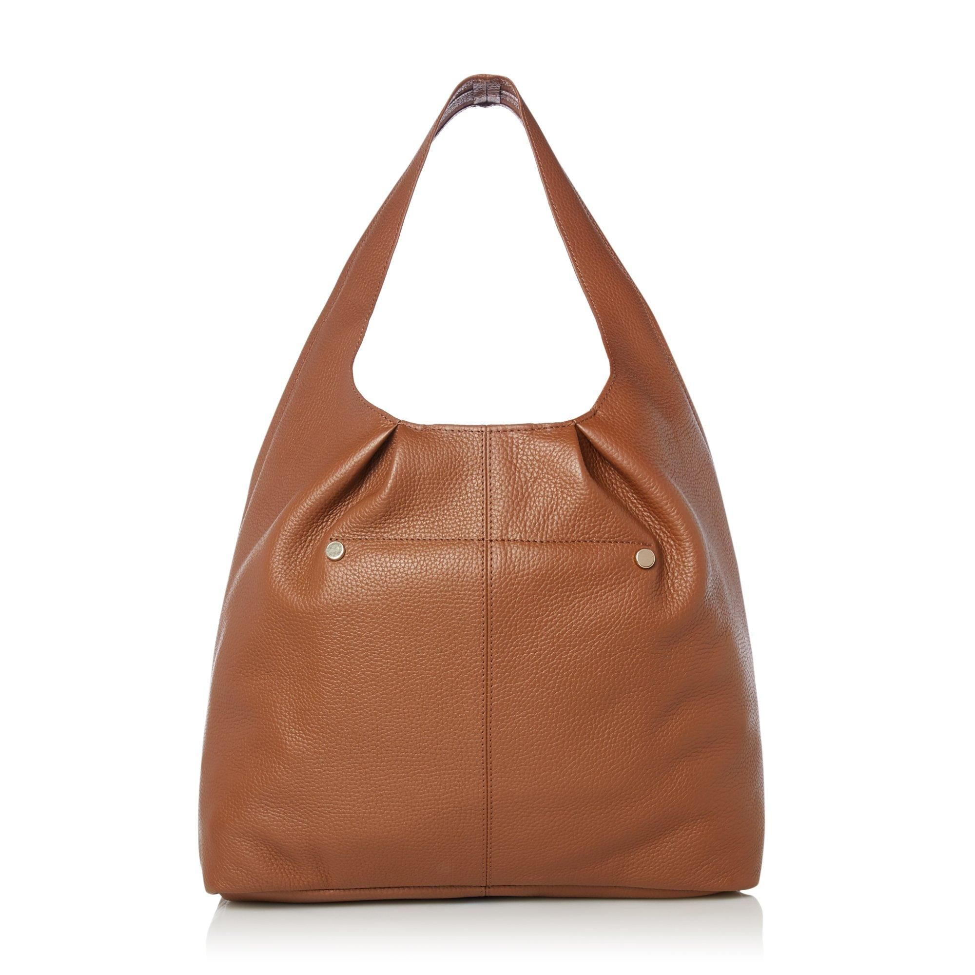 Dune DASHIING Leather Seam Detail Slouch Bag