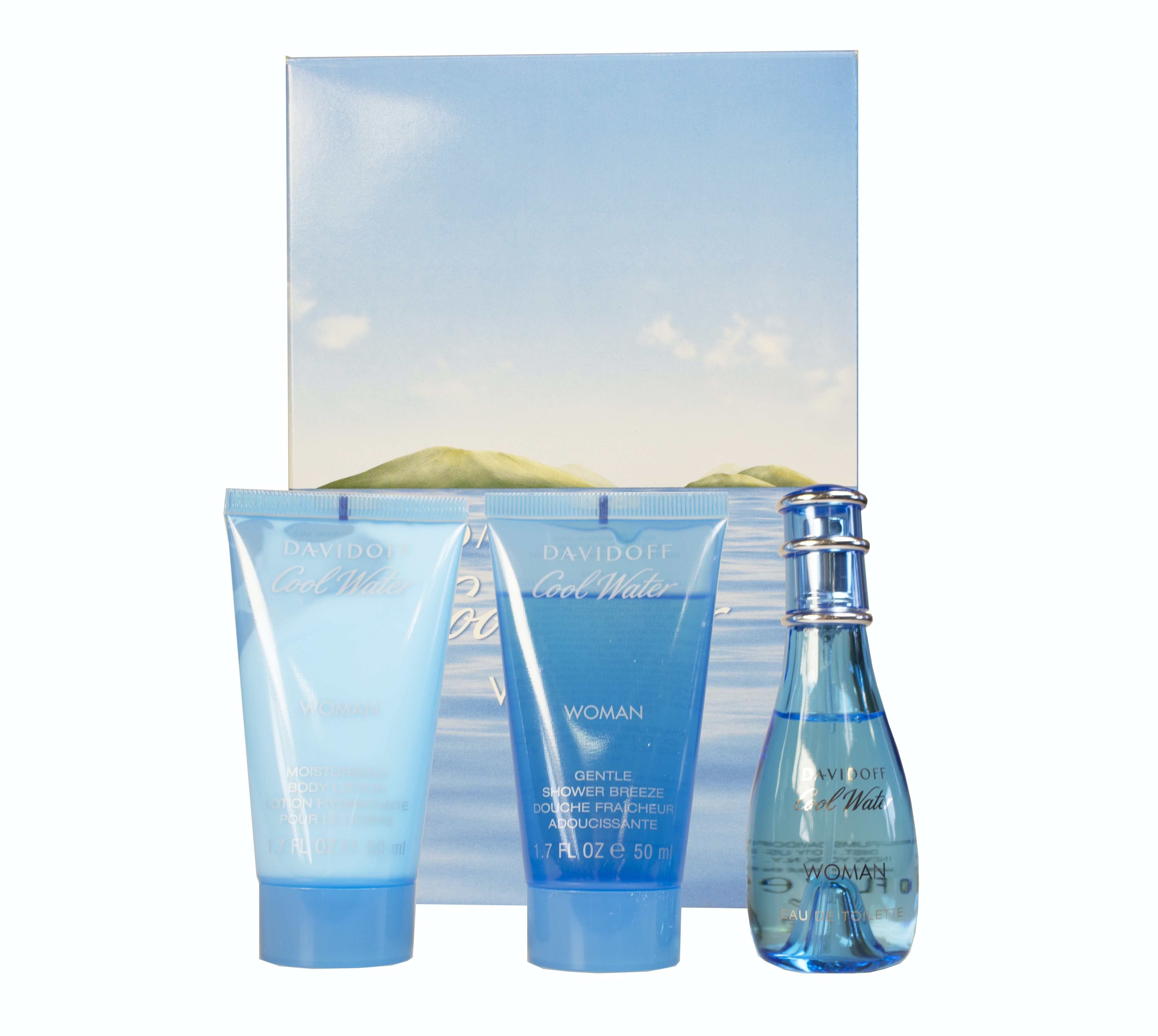 Davidoff Coolwater Woman 30Ml Eau De Toilette And 50Ml Shower Gel And 50Ml Body Lotion