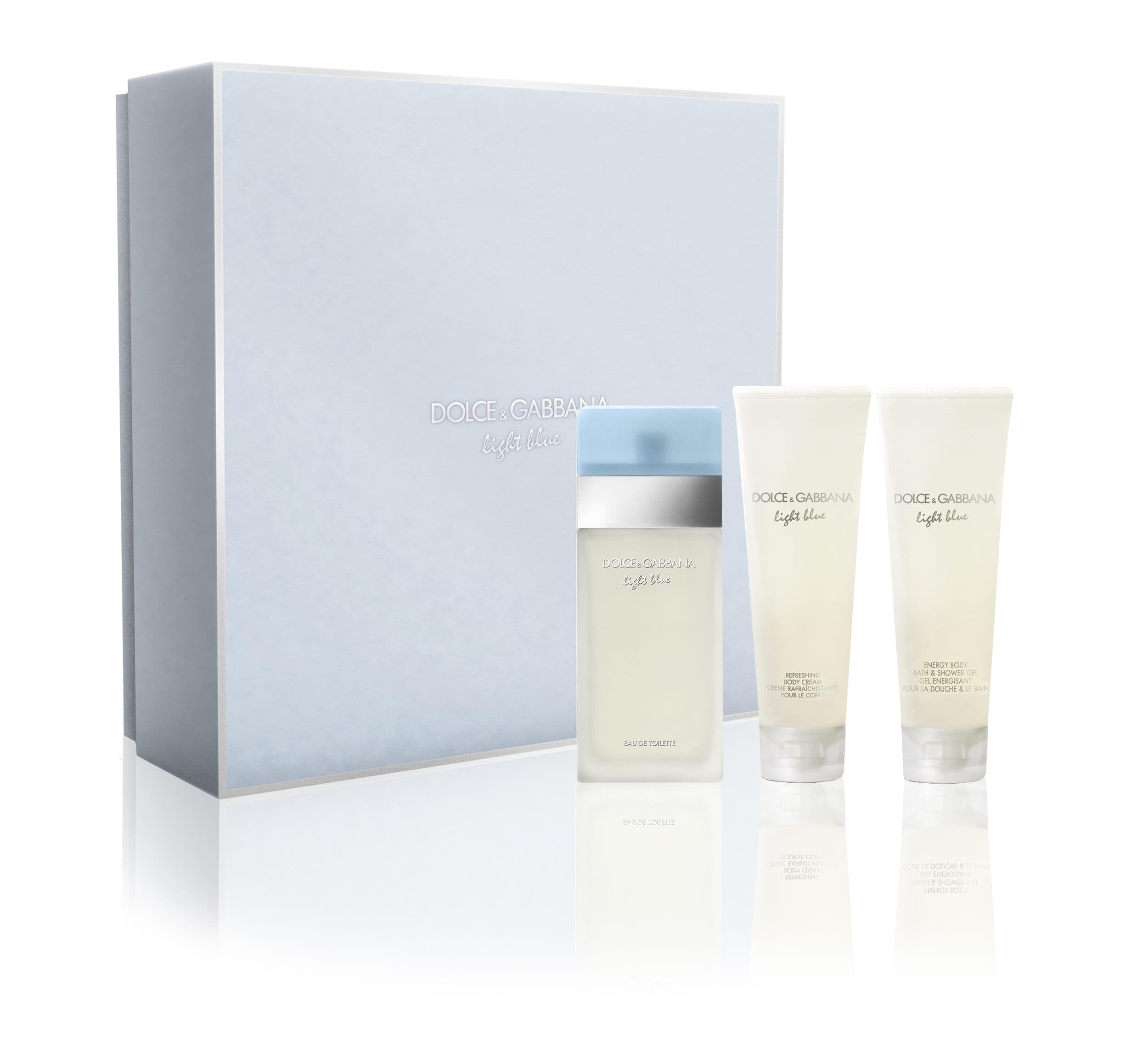 Dolce And Gabbana Light Blue Eau De Toilette Spray 50Ml And Shower Gel 50Ml