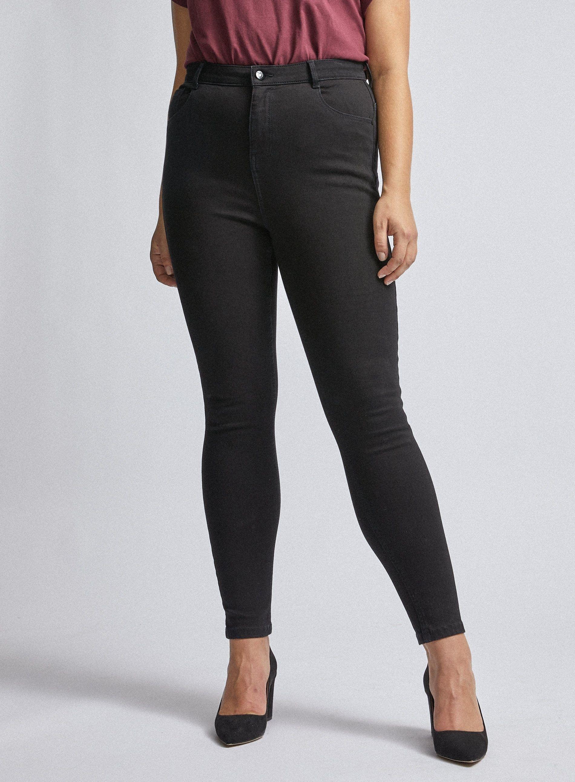 Dorothy Perkins Womens Curve Black Shape & Lift 4Way Denim Skinny Jeans Trousers