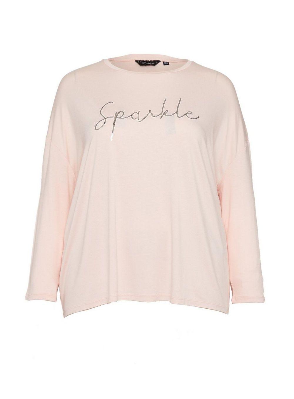 Dorothy Perkins Womens Curve Blush Christmas Top Winter Holiday Shirt Blouse