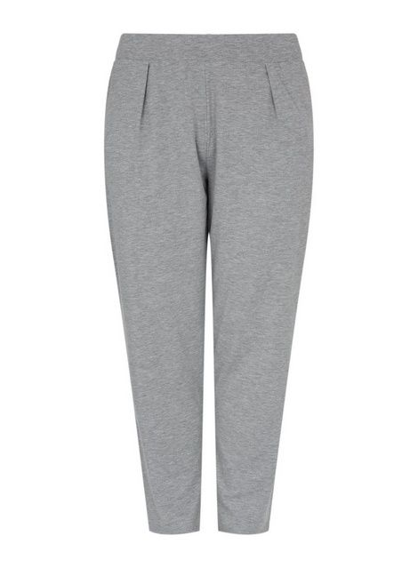 Dorothy Perkins Womens Curve Grey Marl Jersey Joggers Activewear Sports Bottoms