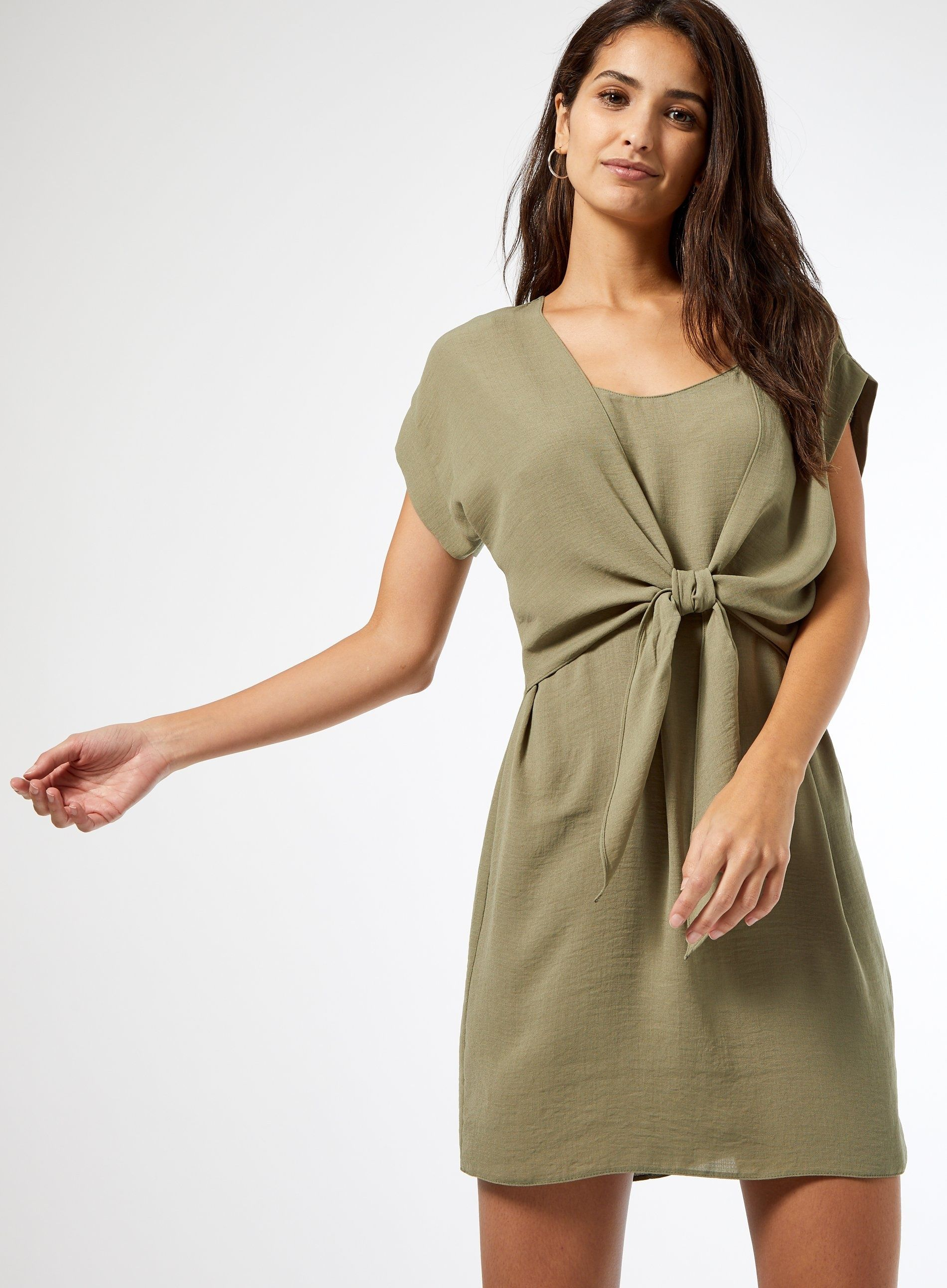 Dorothy Perkins Womens Green 2 in 1 Shirt Dress Short Sleeve Everyday Casual