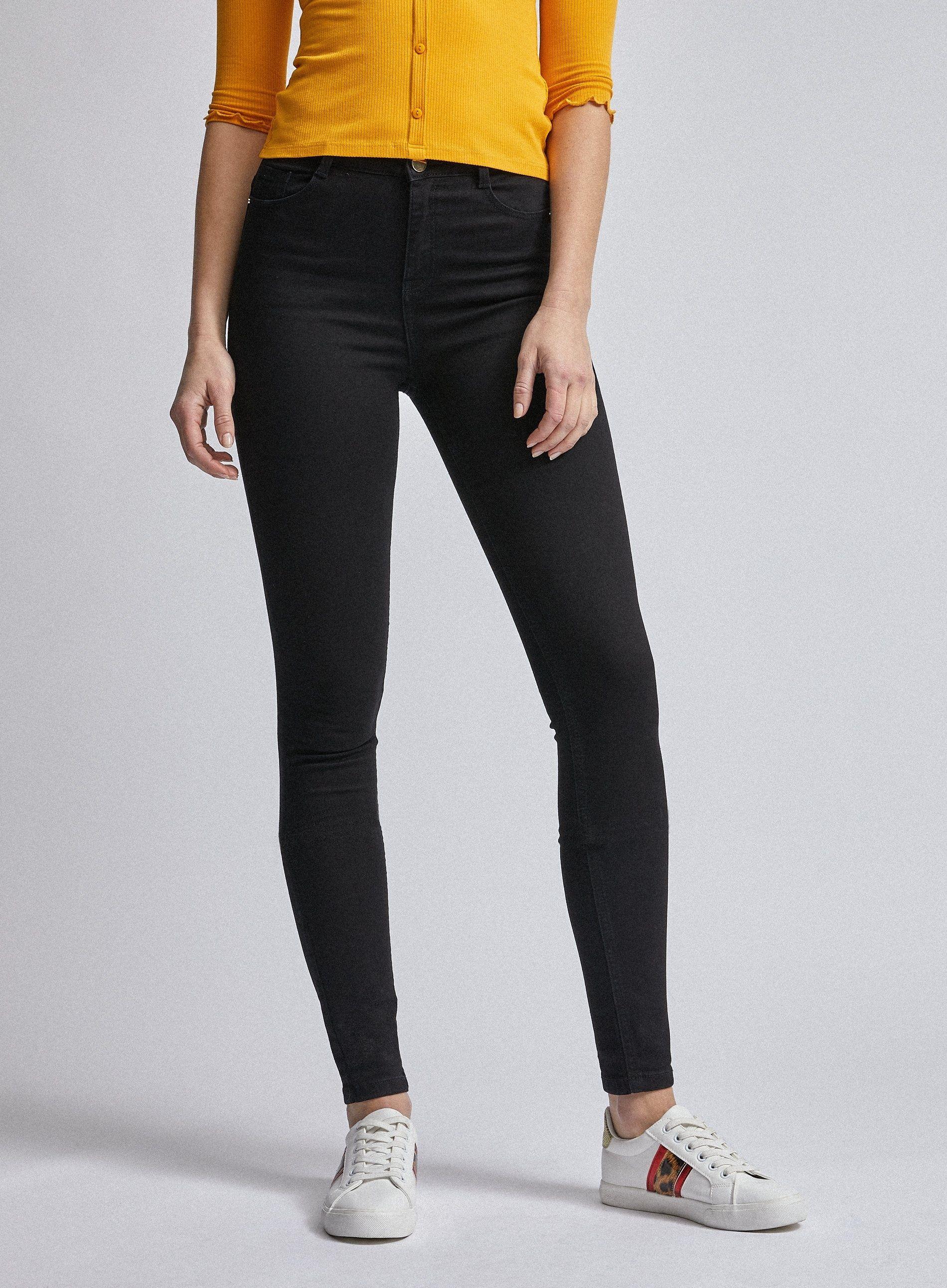 Dorothy Perkins Womens Tall Black Shape & Lift Shaping Skinny Jeans Trousers