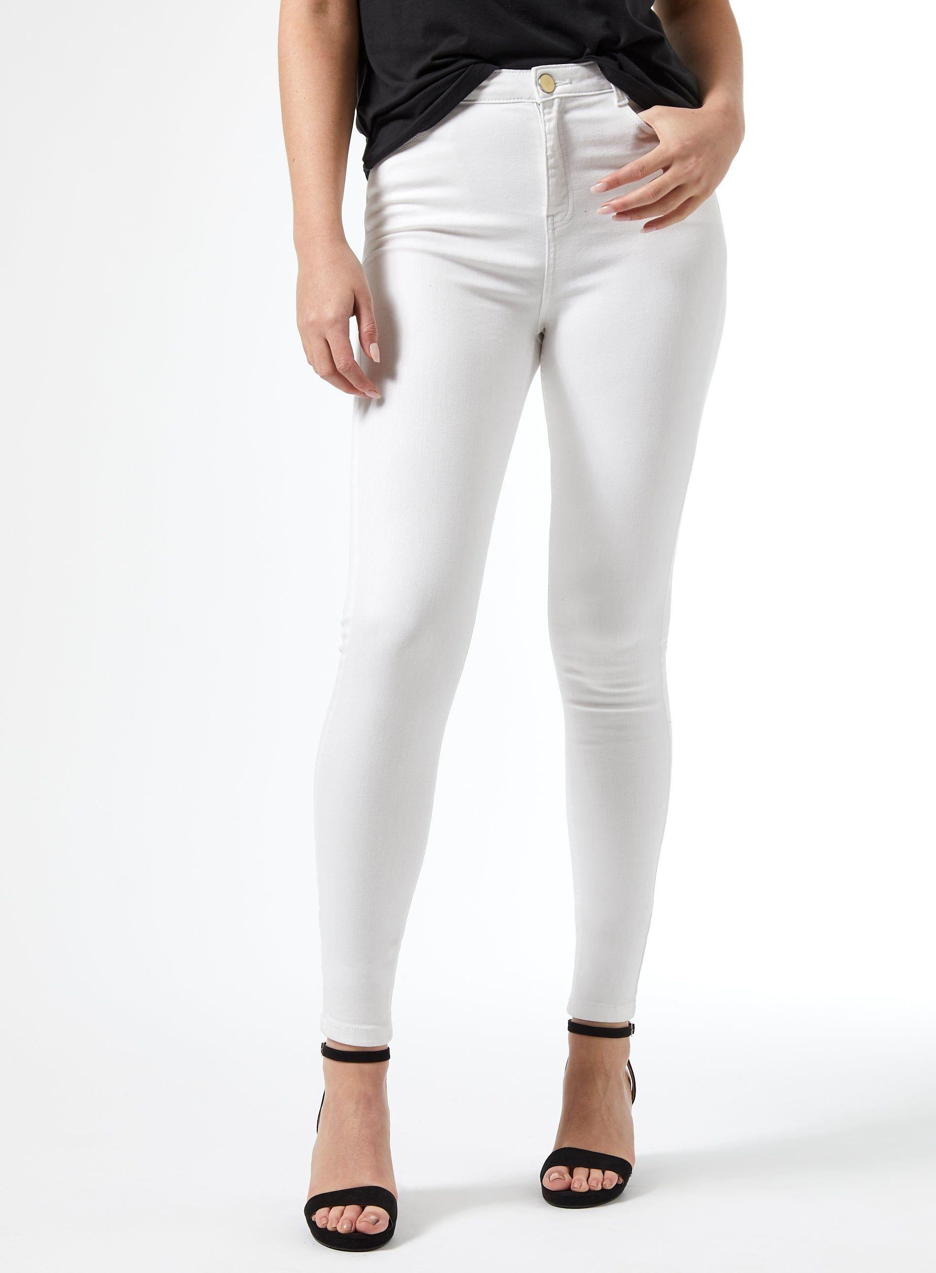 Dorothy Perkins Womens Tall White Shape & Lift Denim Skinny Jeans Pants Trousers