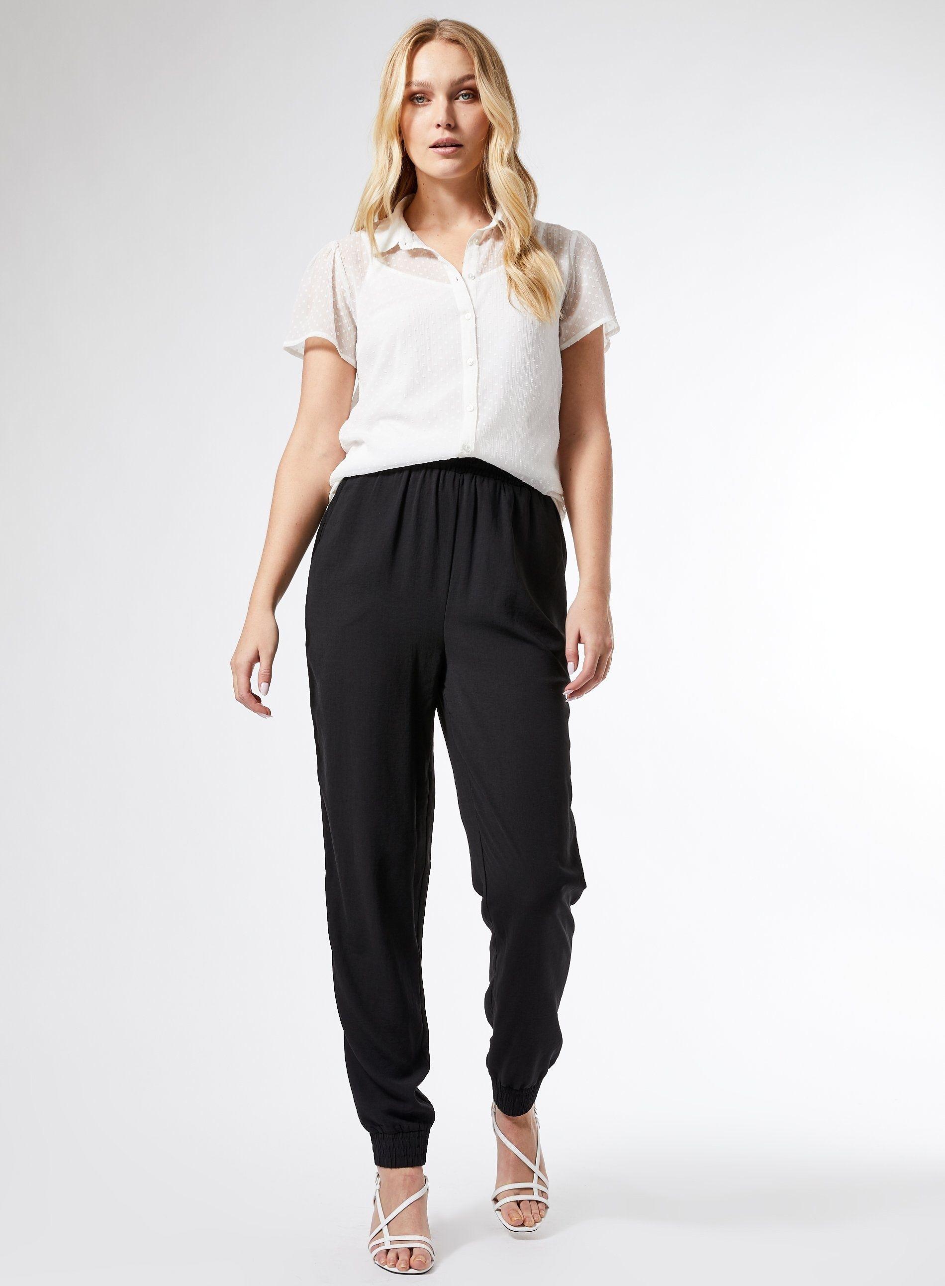 Dorothy Perkins Womens Tall Ivory Dobby Blouse Short Sleeve V-Neck Blouse
