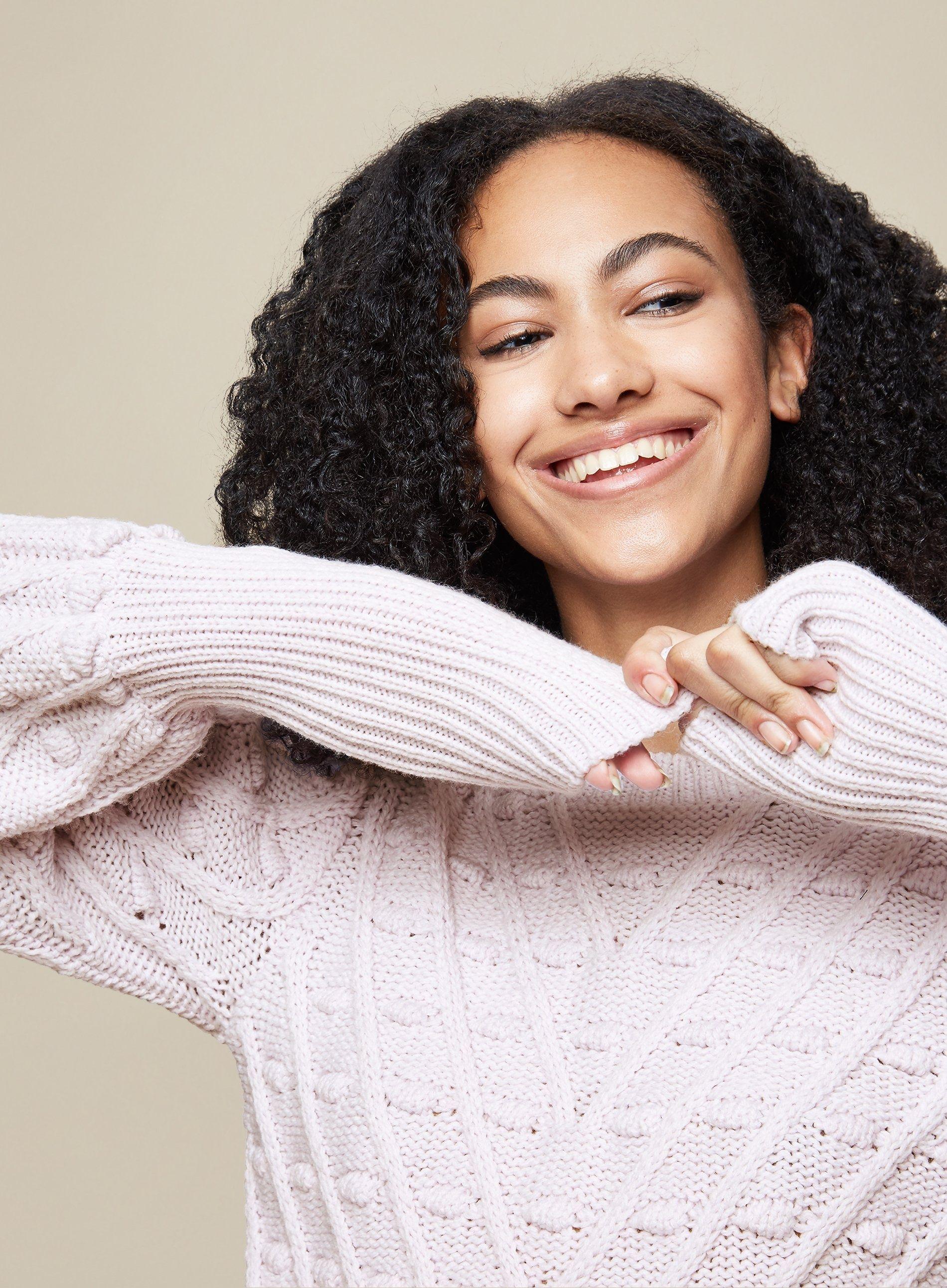 Dorothy Perkins Womens Tall Purple Bobble Jumper Sweater Pullover Knitwear Top