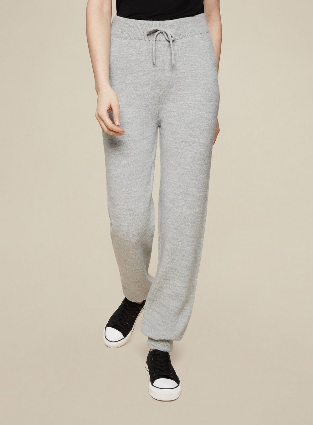 Dorothy Perkins Womens Tall Grey Knitted Joggers Activewear Bottoms Trousers