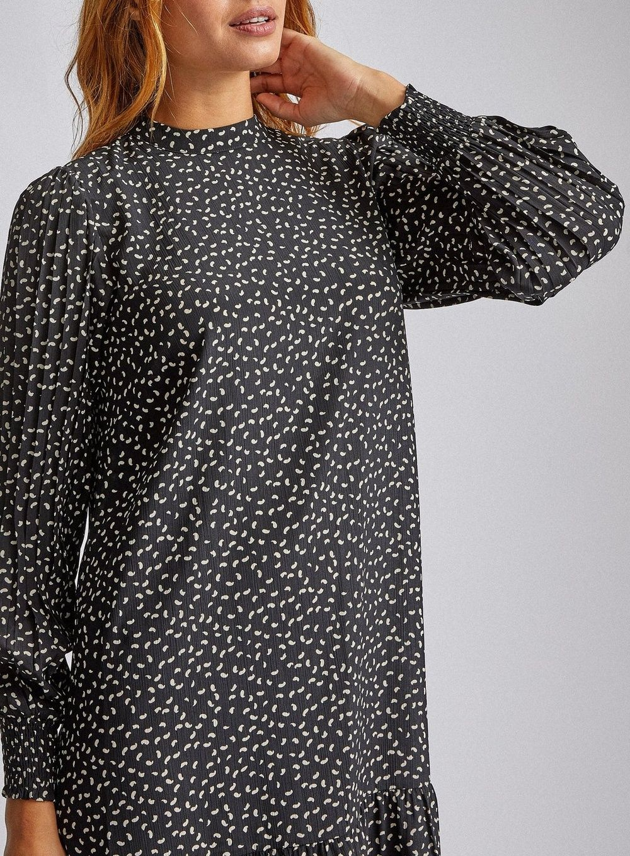 Dorothy Perkins Womens Vero Moda Black Long Sleeve Dress Round Neck Loose Fit