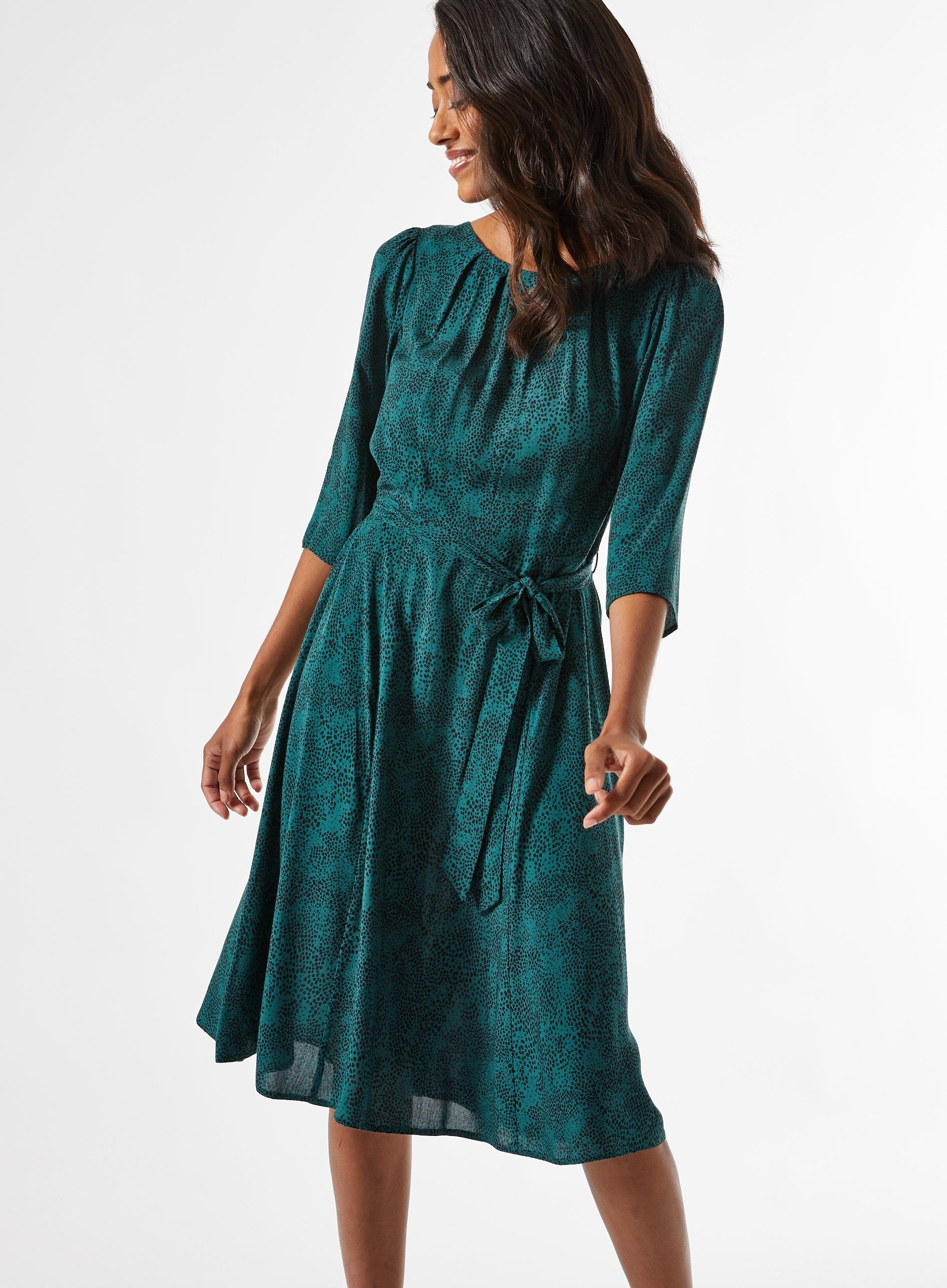 Dorothy Perkins Womens Billie and Blossom Petite Green Midi Dress