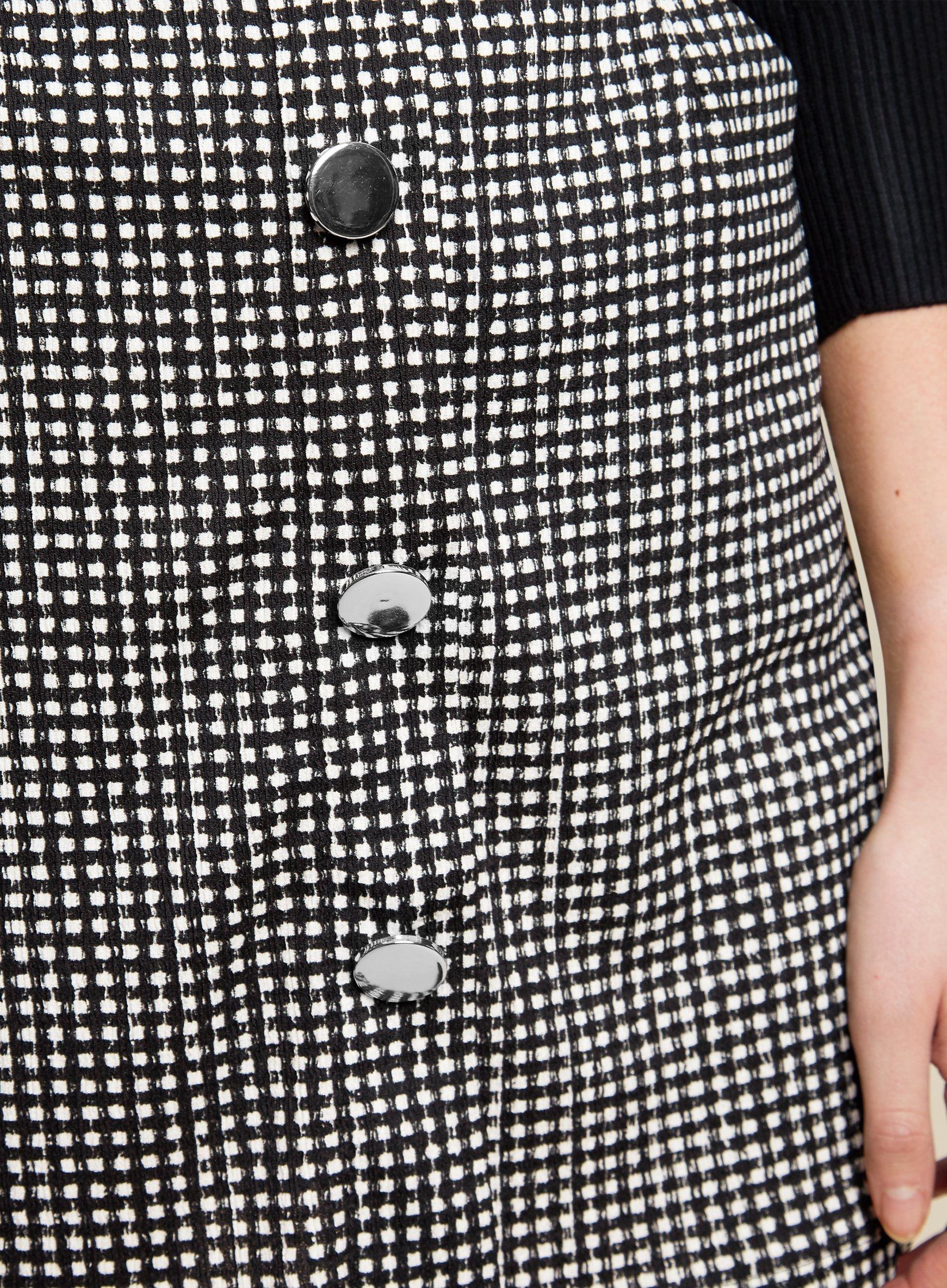 Dorothy Perkins Womens Multi Coloured Gingham Button Front Mini Skirt High Rise