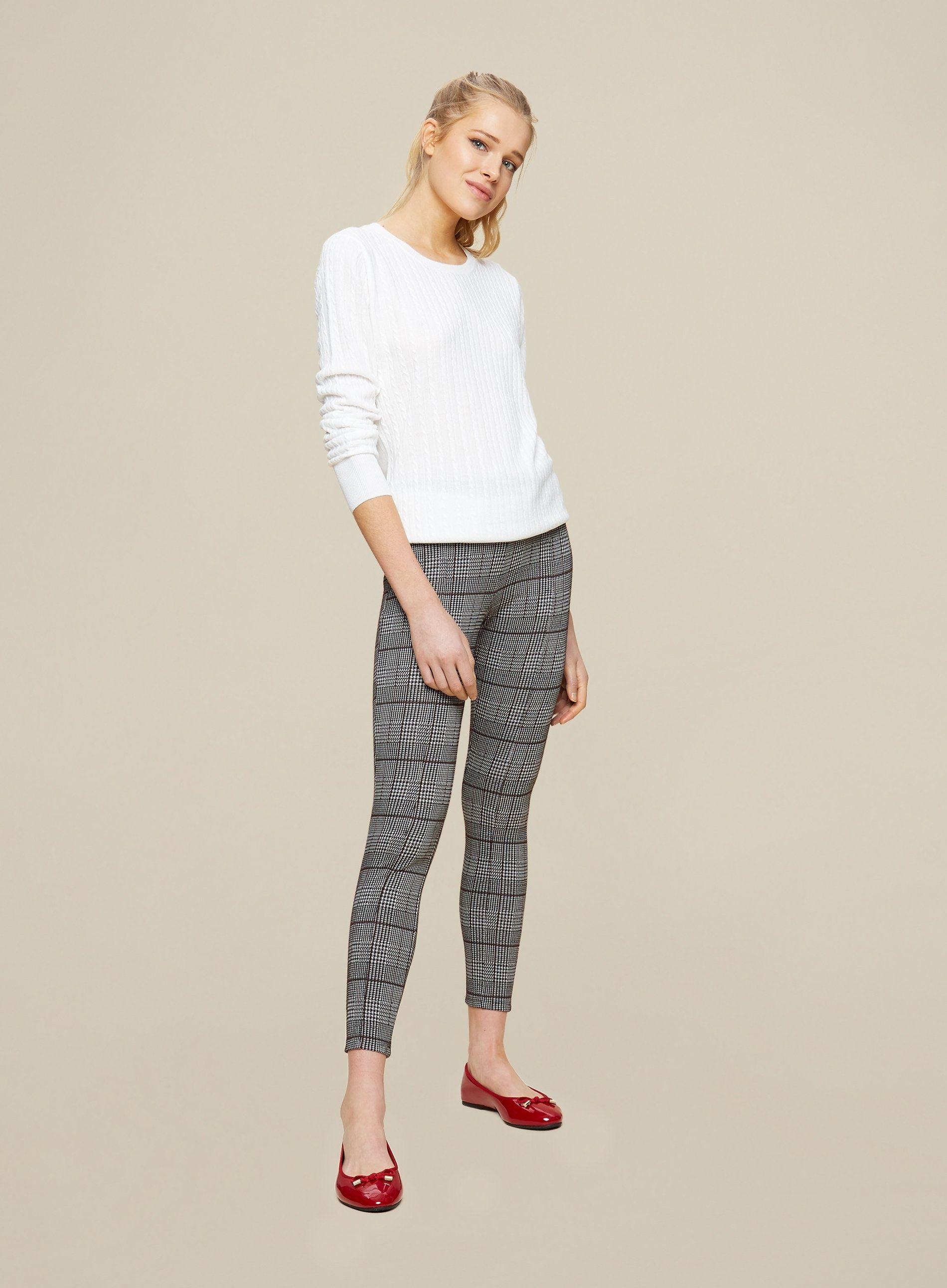 Dorothy Perkins Womens Multi Coloured Momochrome Check Leggings Elastic Waist